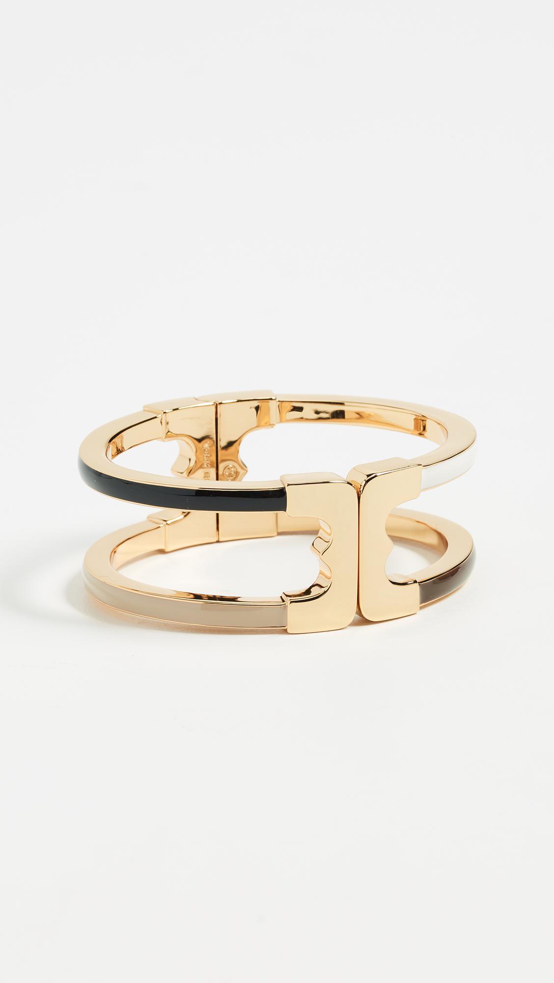 Tory Burch black enamel bracelet - Metallic Q4bGGbkRw