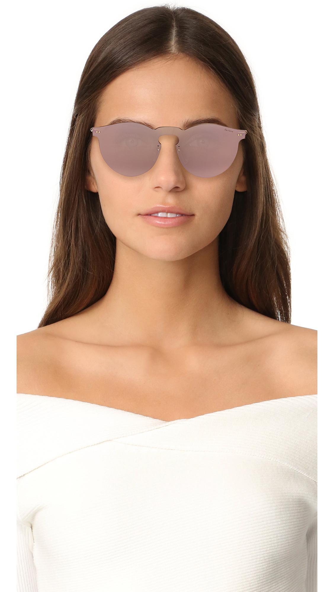 a7b041c0c0 Lyst - Illesteva Leonard Mask Sunglasses in Pink