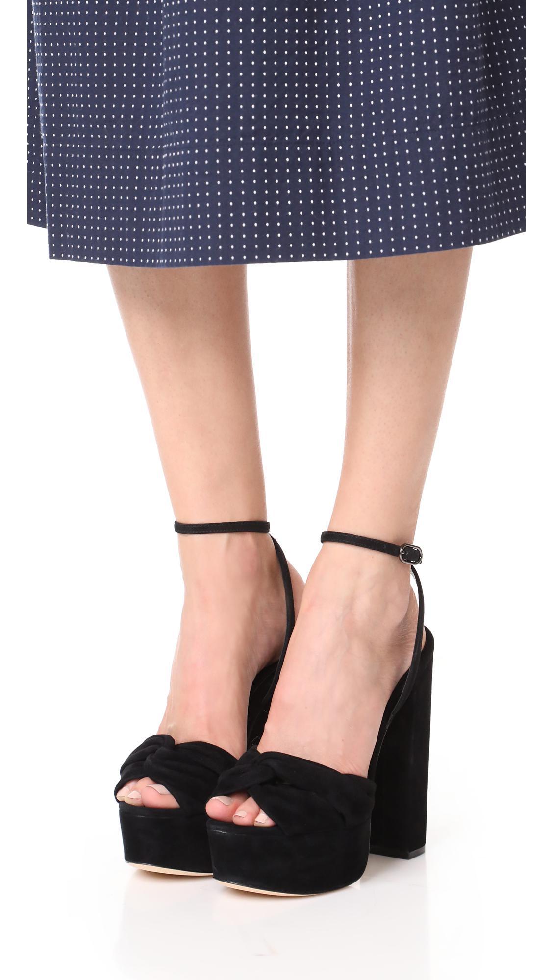 d6edd3140f5 Lyst - Rachel Zoe Claudette Platform Sandals in Black