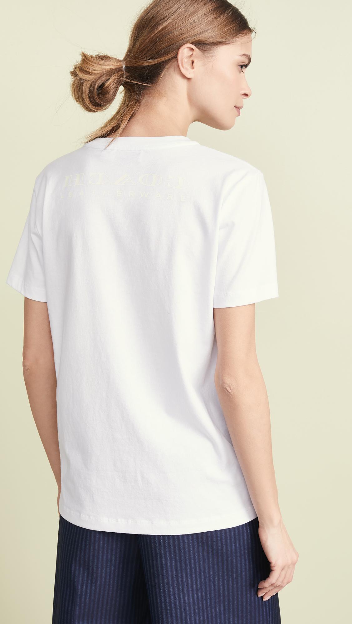 ba7a81e7ac91b COACH Disney X Dumbo Signature T-shirt in White - Lyst