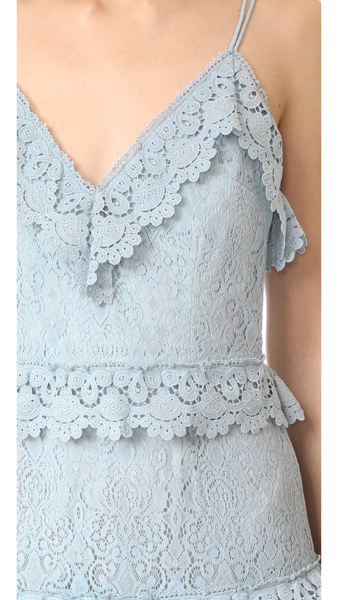 2739c9b49884 Lyst - Talulah Shadow Dance Crossover Mini Dress in Blue