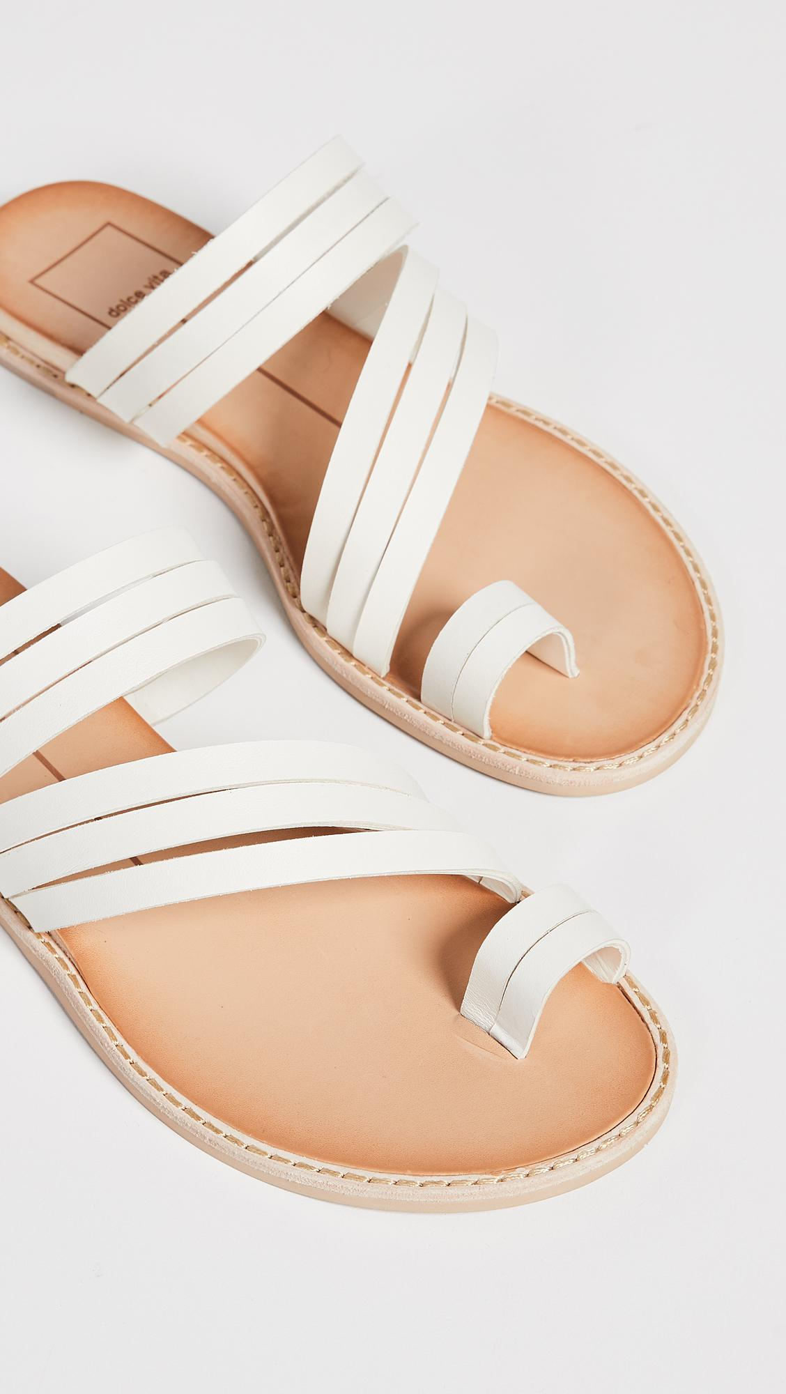 ed5ac73676f15 Lyst - Dolce Vita Nelly Toe Ring Slides in White