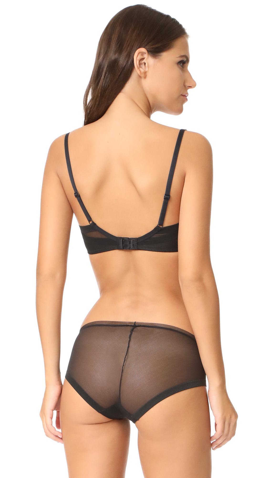 01b661fed07e3 Calvin Klein - Black Sculpted Lightly Lined Triangle Bra - Lyst. View  fullscreen