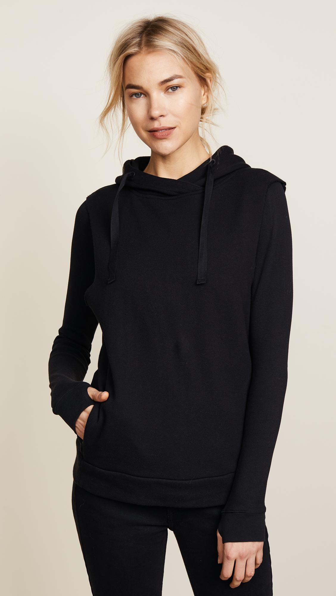 scotch soda club nomade hoodie in black lyst. Black Bedroom Furniture Sets. Home Design Ideas