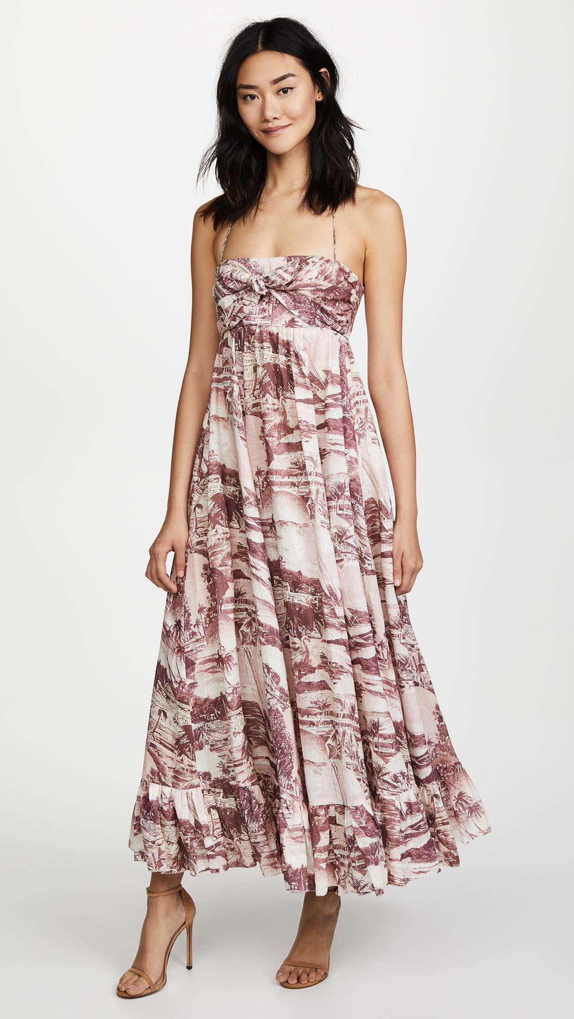67867e304c Lyst - Zimmermann Kali Hawaiian Long Dress in Pink
