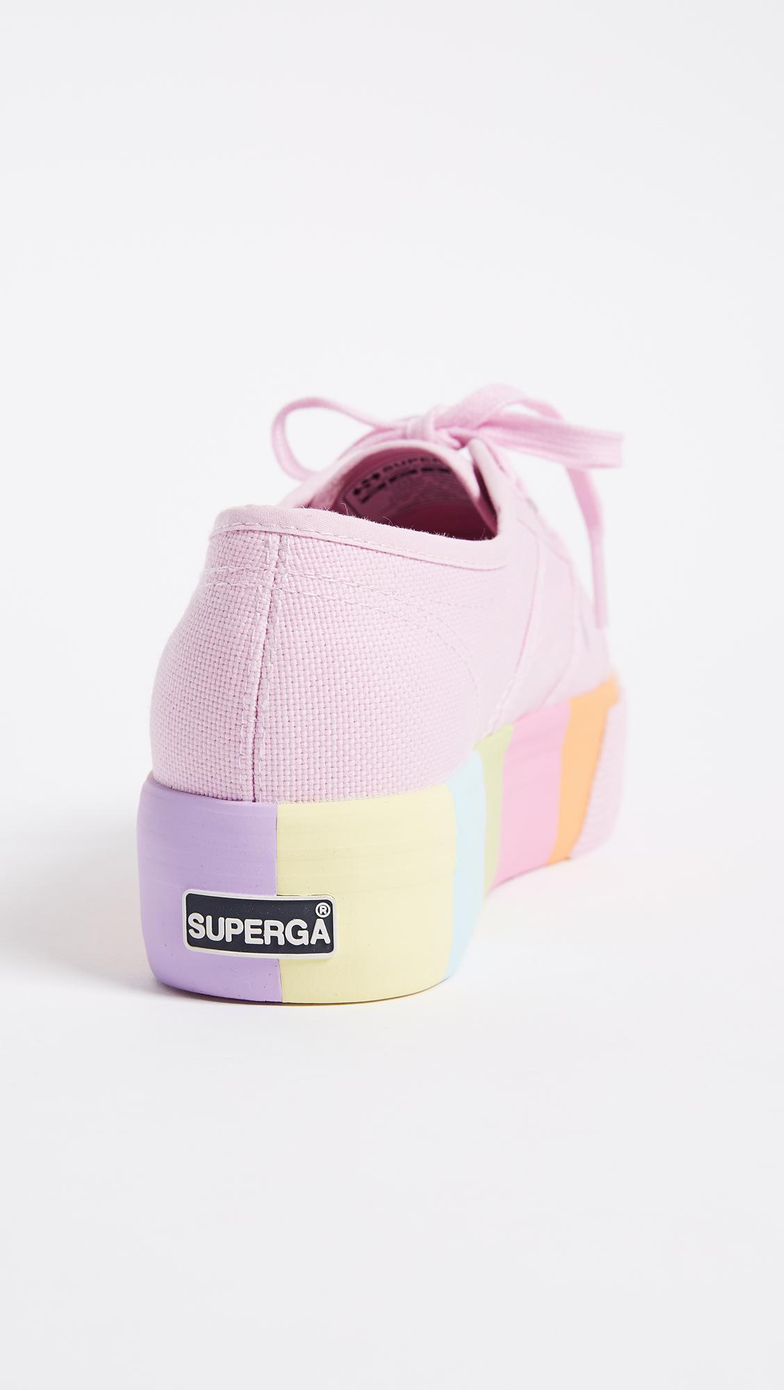 f45f0b3f657 Lyst - Superga 2790 Multi Platform Sneakers in Pink