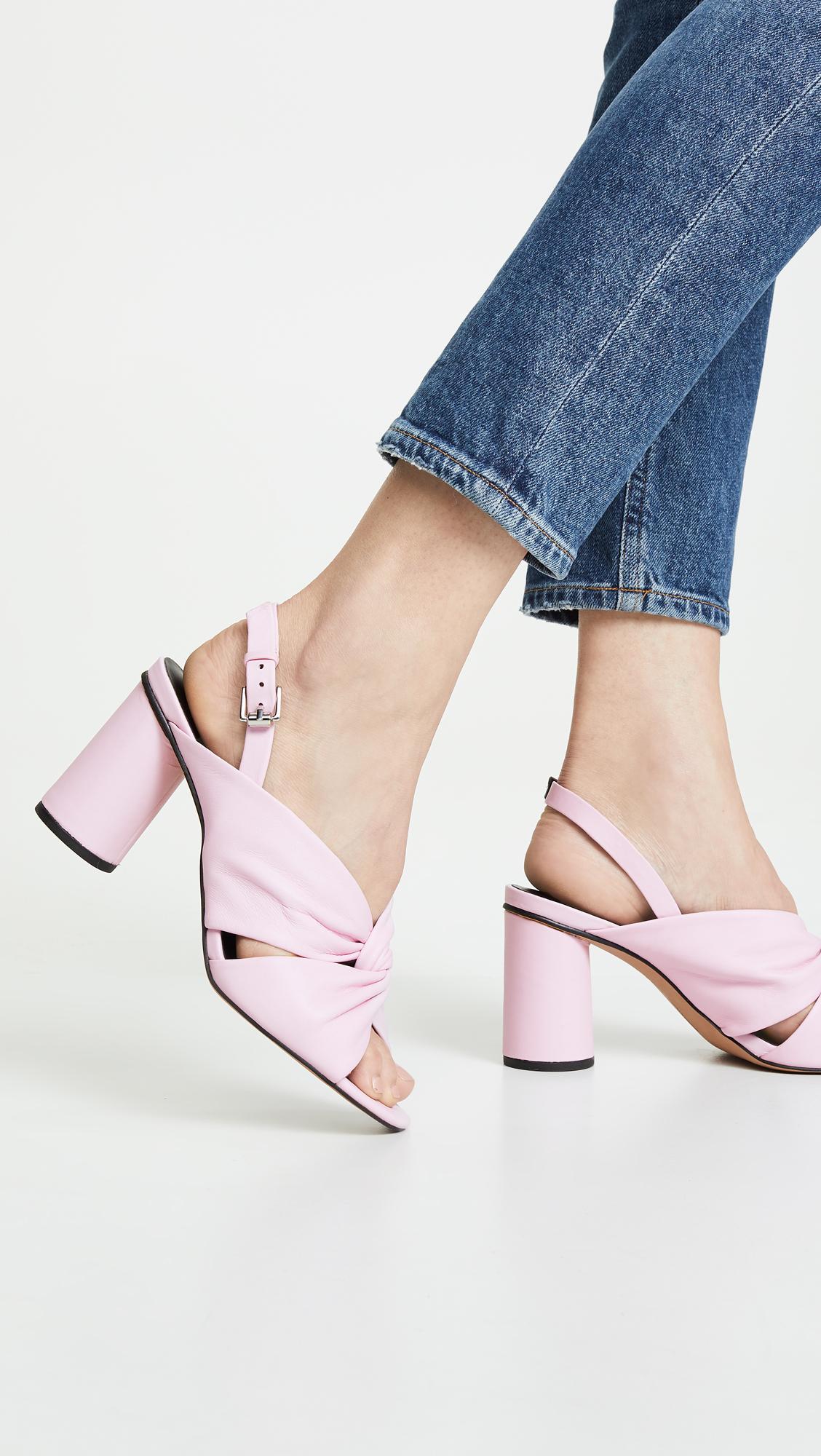 f18777f6bda Rebecca Minkoff - Pink Agata Block Heel Slingback Sandals - Lyst. View  fullscreen