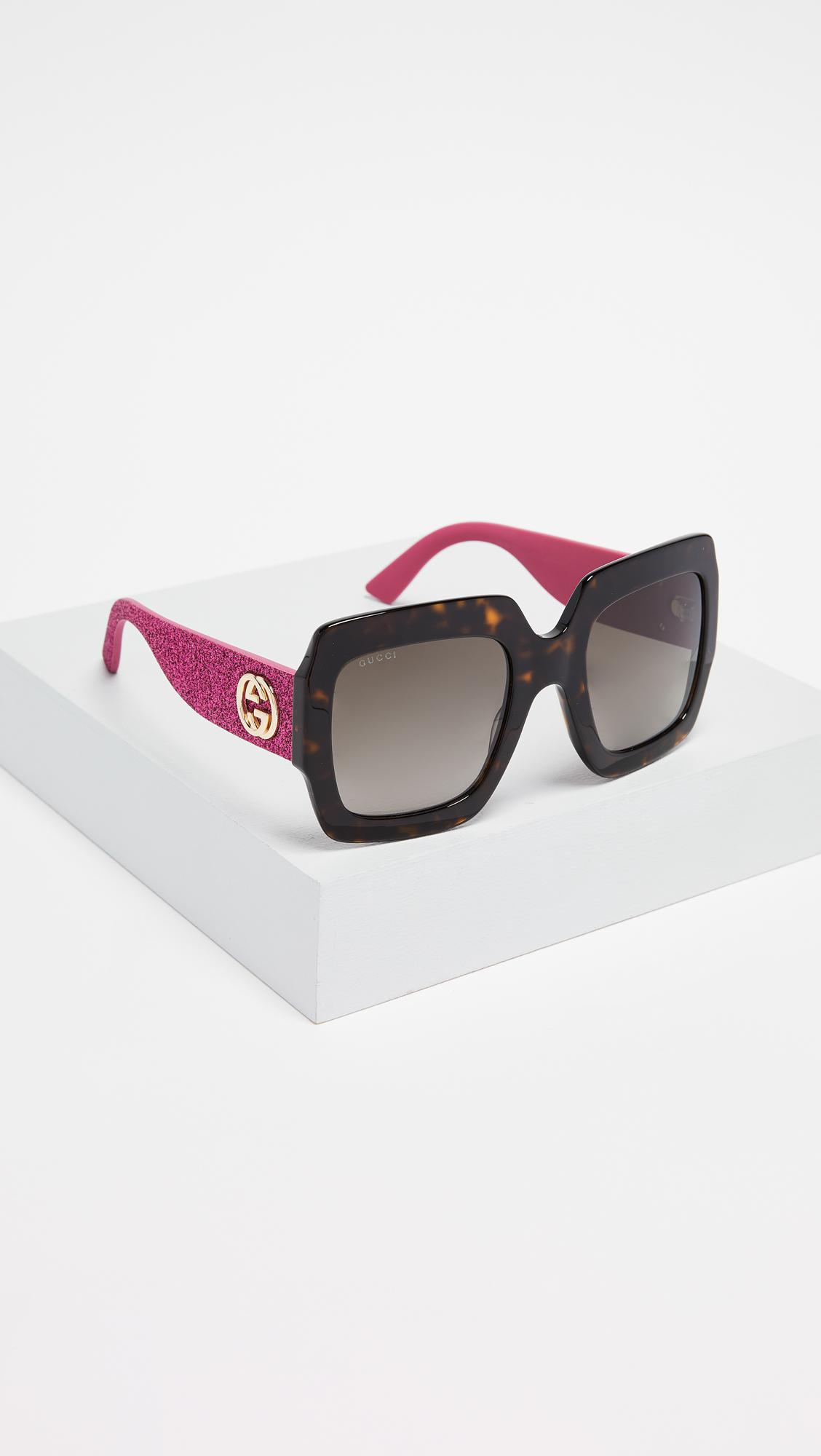 1f99c2c861 Gucci - Multicolor Pop Glitter Iconic Oversized Square Sunglasses - Lyst.  View fullscreen
