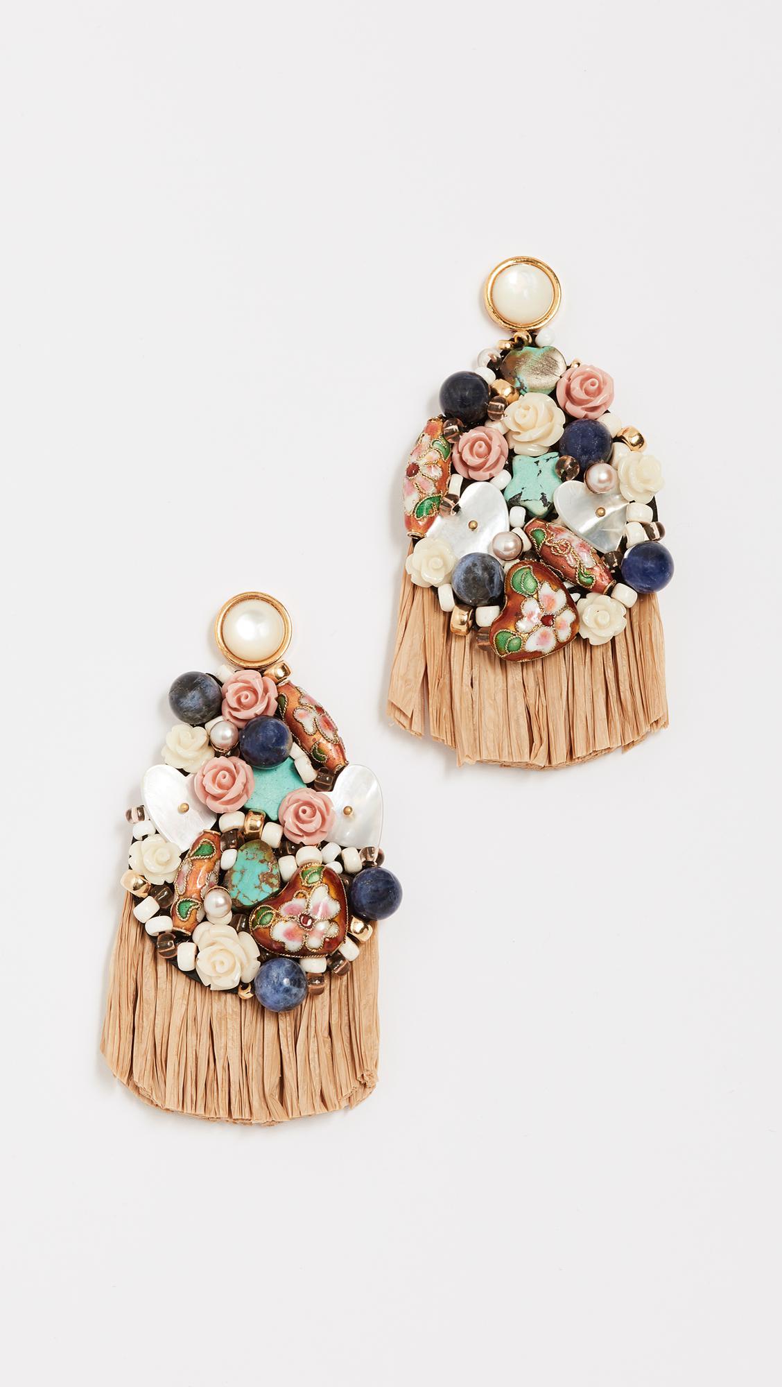 Lizzie Fortunato Daydream Raffia Earrings GmXwfhxc