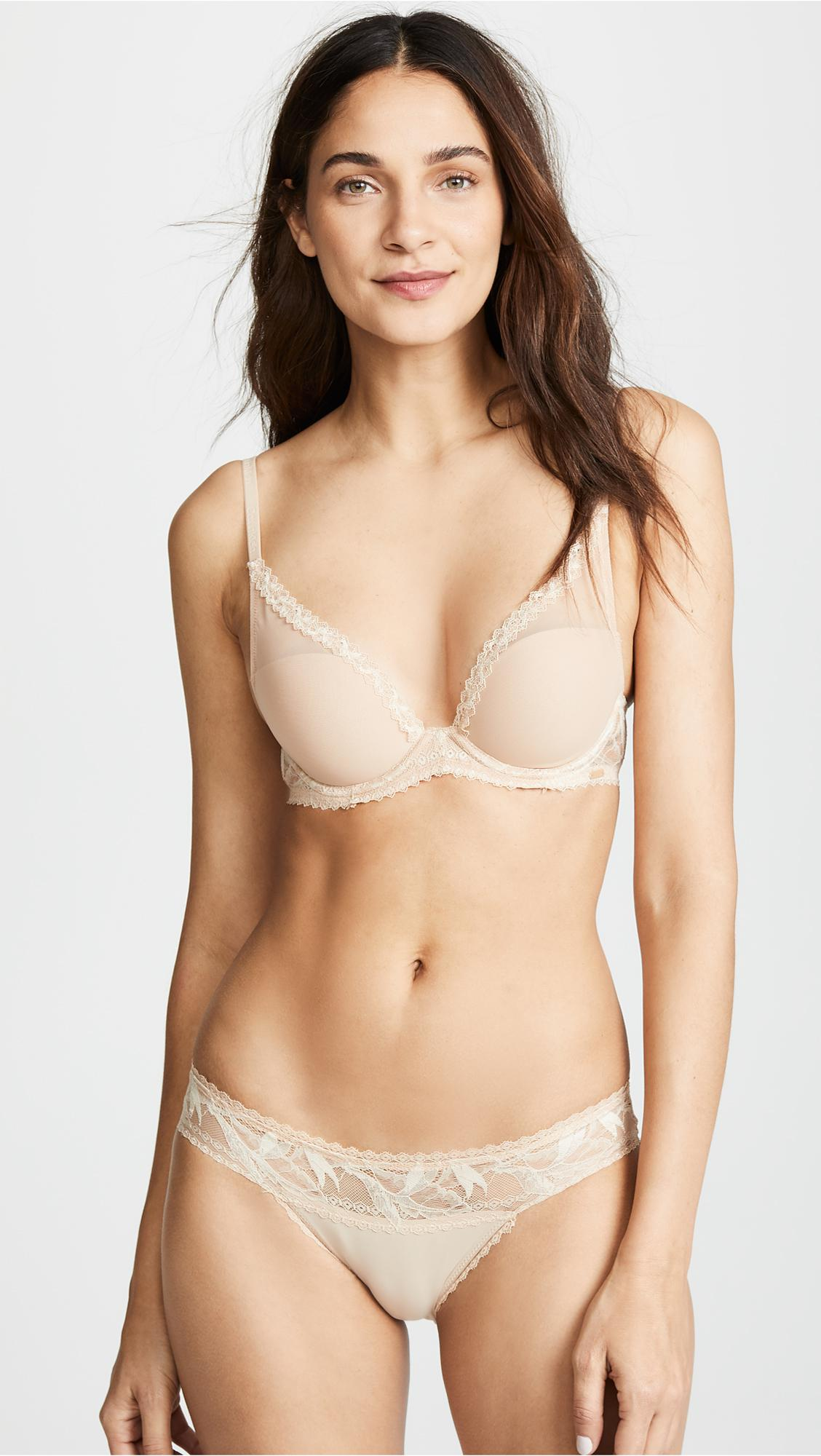 8f1524ce55a Calvin Klein. Women s Natural Perfectly Fit Perennial Lightly Lined Plunge  Bra
