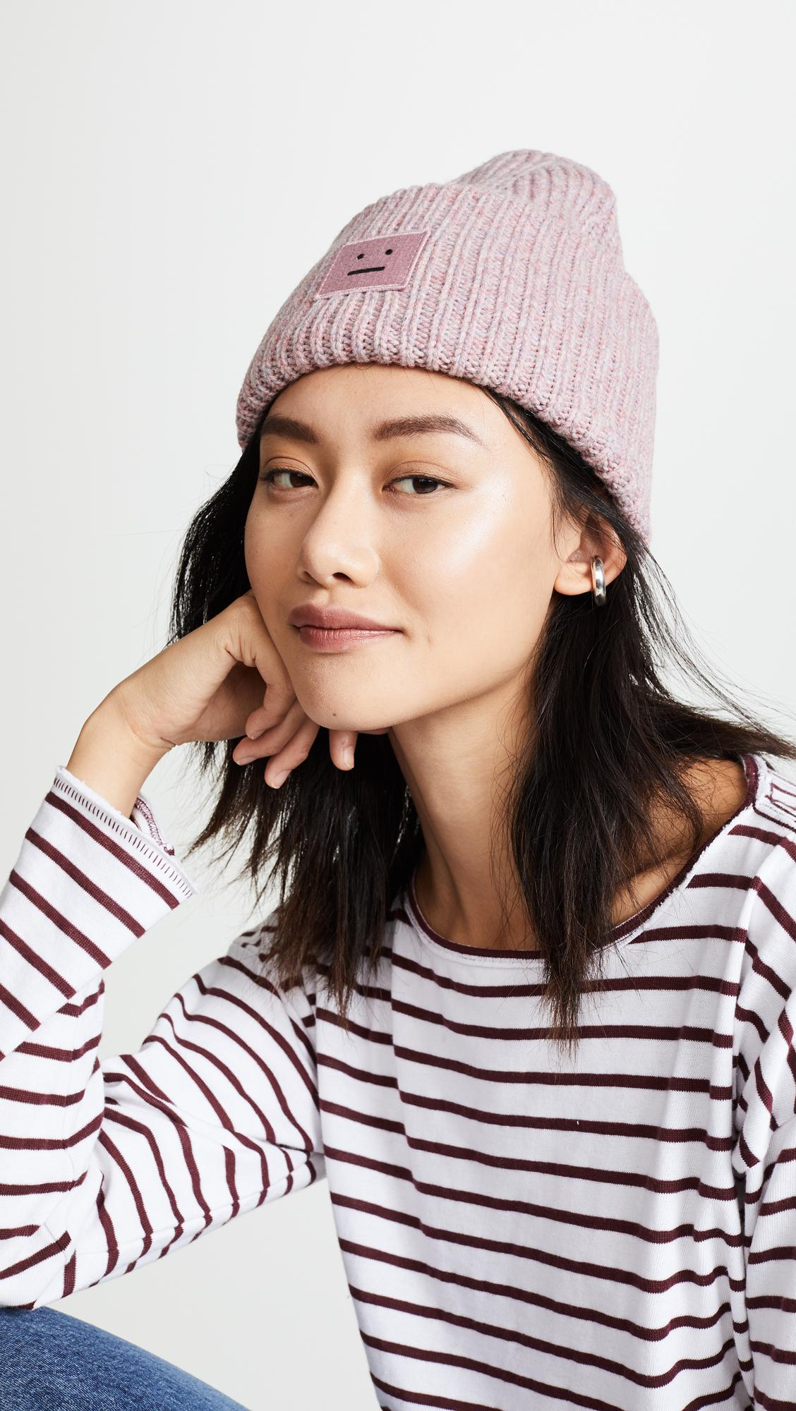 Acne Studios Pansy With Face Hat in Pink - Lyst 156271b922b