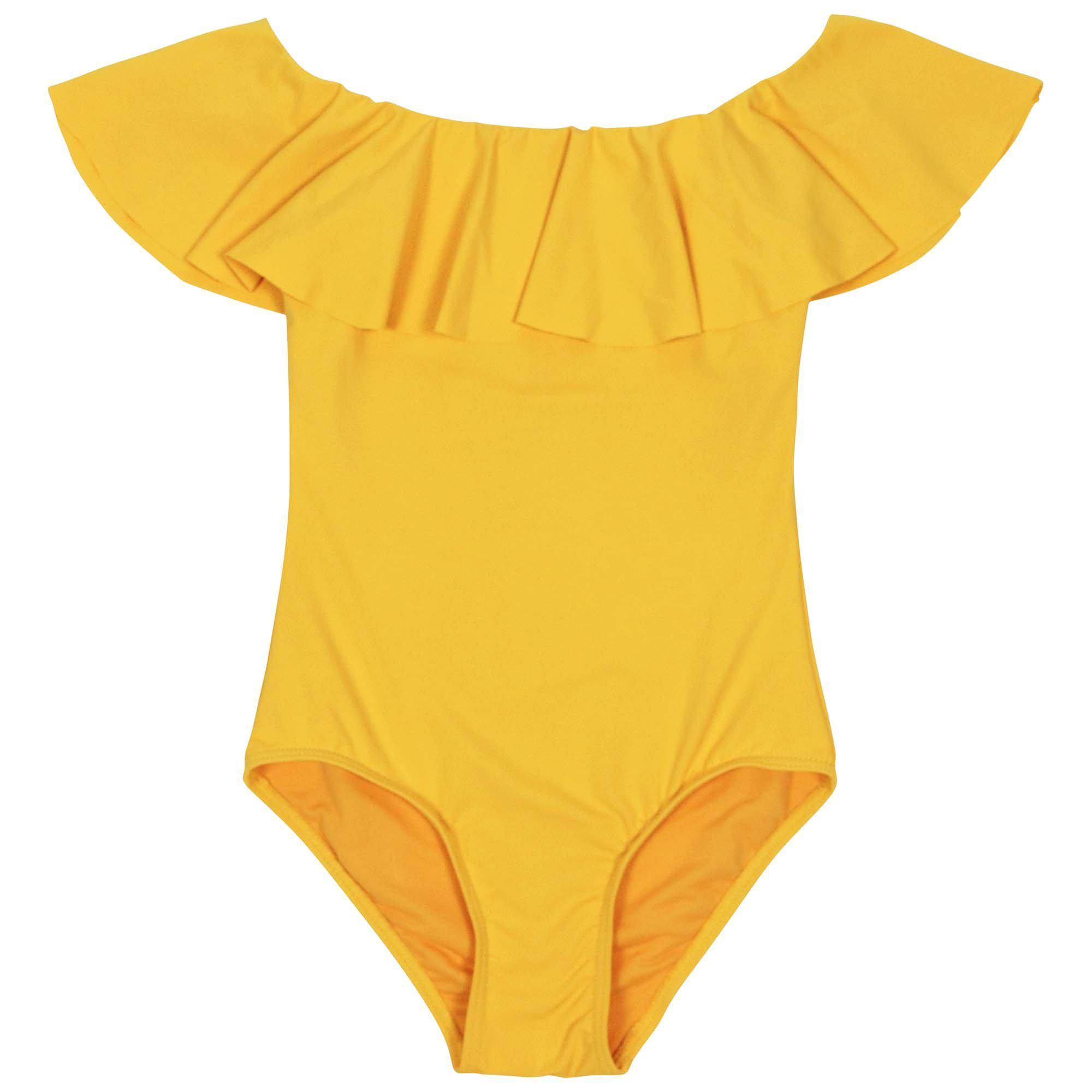 6b6c067304ecd Lyst - BURU White Label Mini Me Off The Shoulder Swimsuit in Yellow