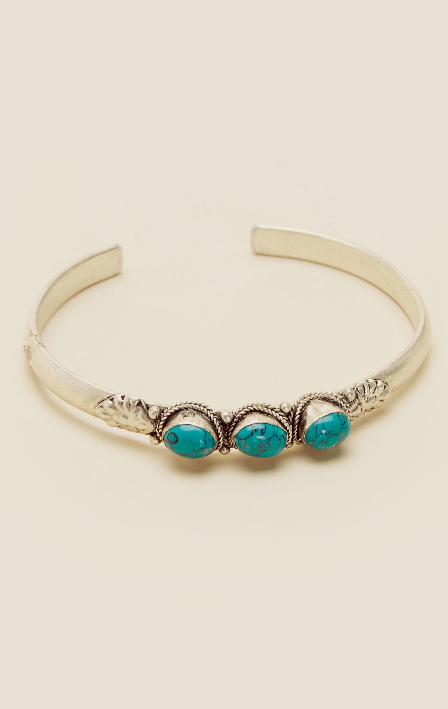 natalie b jewelry isa three cuff in blue turq lyst