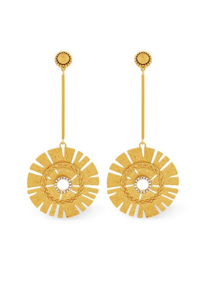 Rachel Zoe Natasha Starburst Earrings Gold Mkiz8