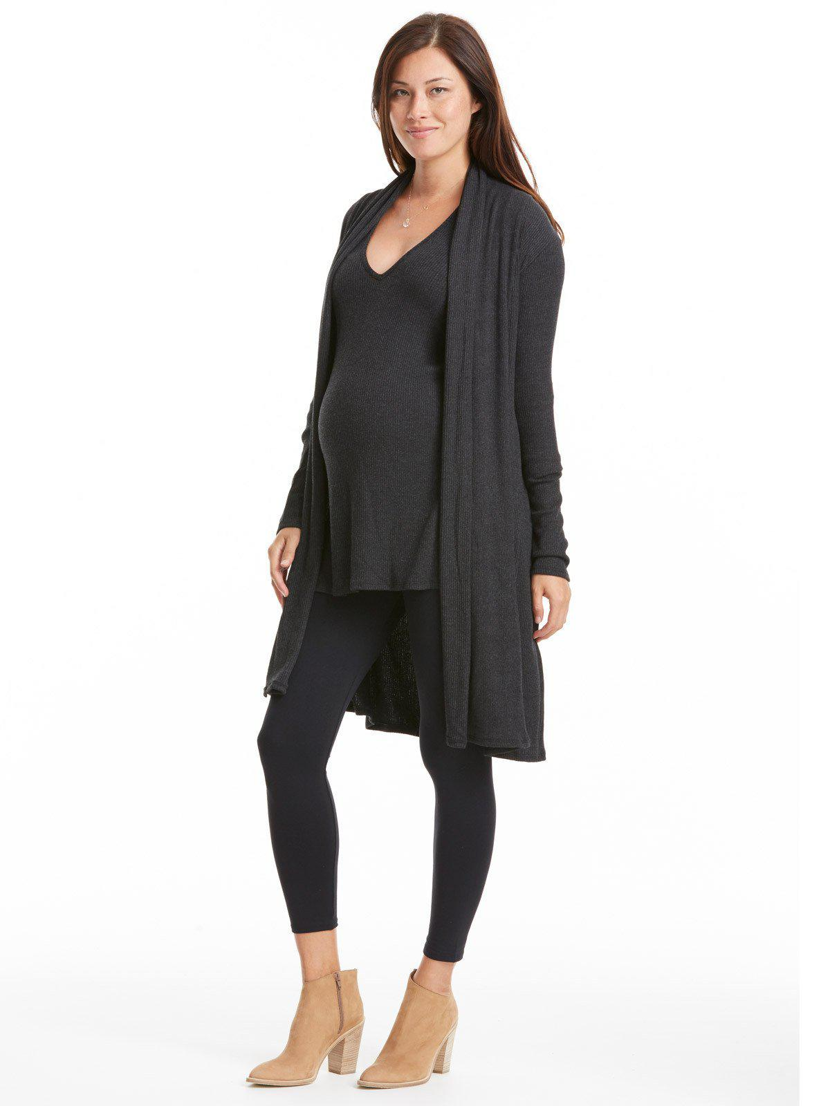 Rachel pally Sal Ribbed Sweater Coat in Gray | Lyst