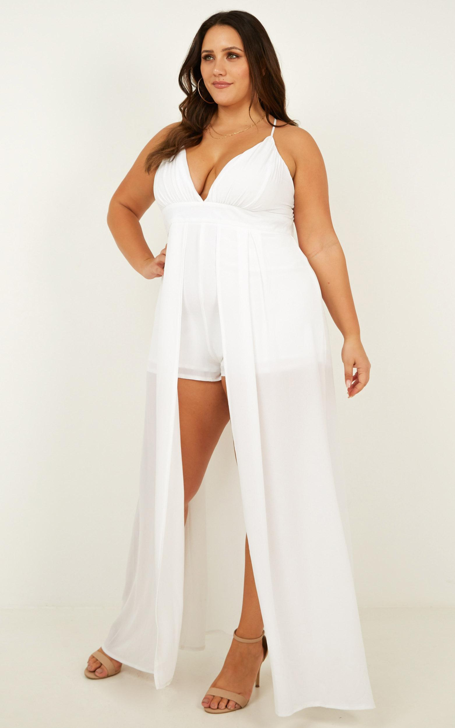 9cc1f9c1f4 Showpo Return To Reality Maxi Playsuit in White - Lyst