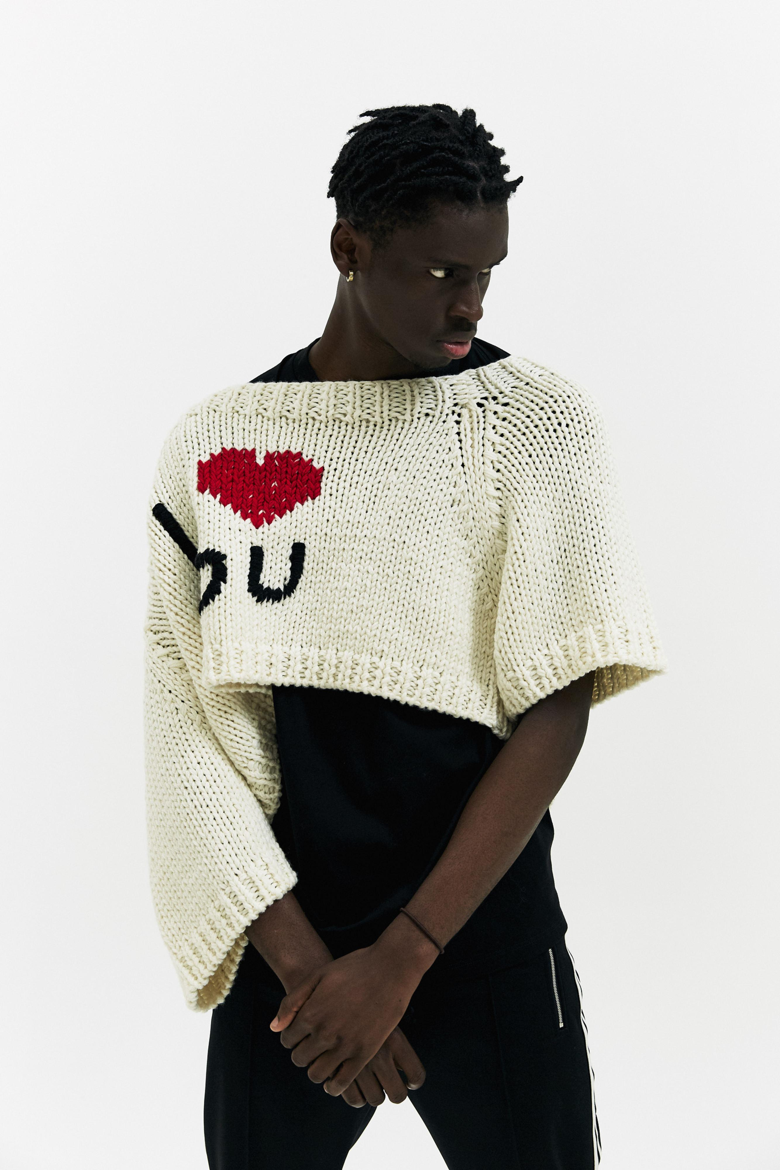 1076e78d29a36 Raf Simons I Love You Sweater for Men - Lyst