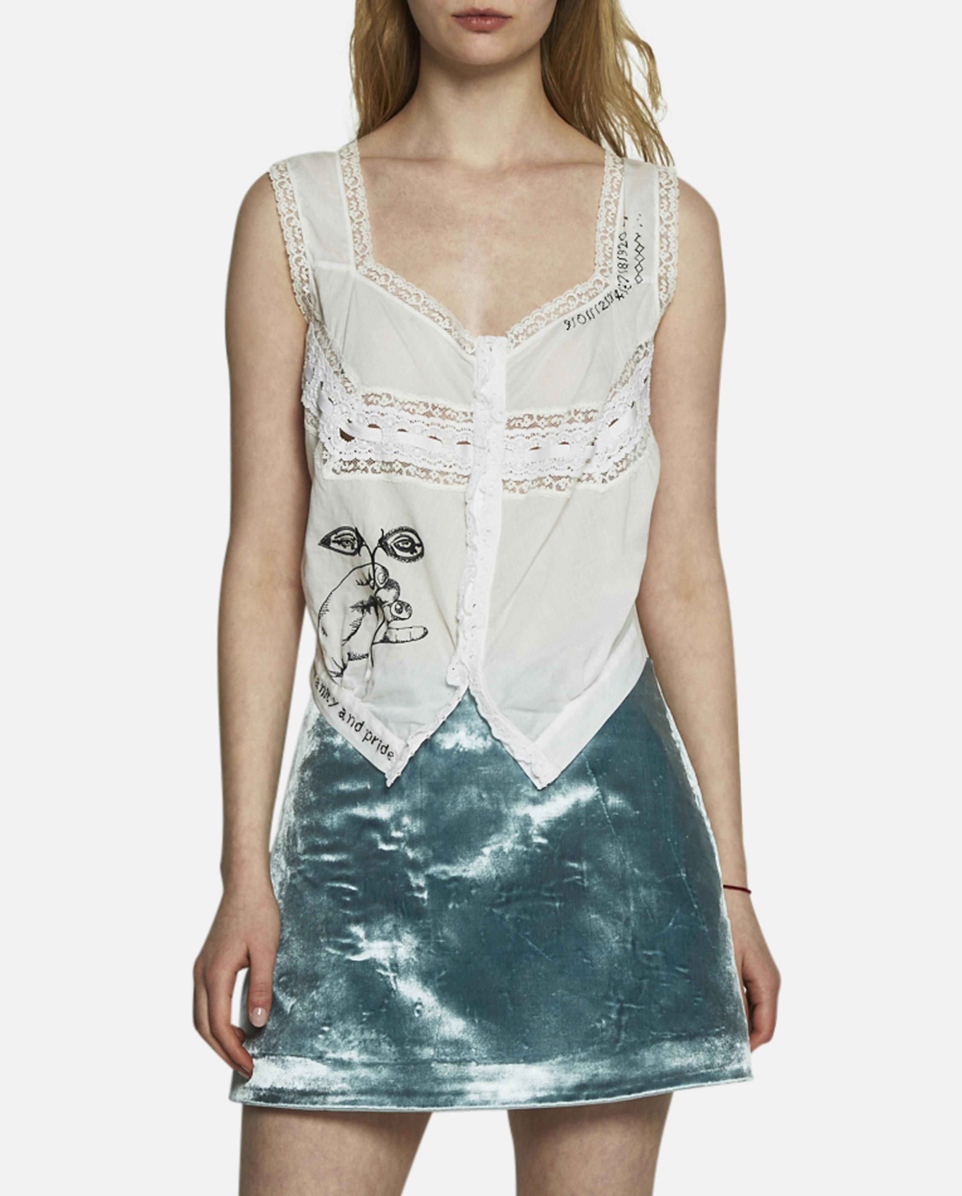 0471725334 Lyst - Maison Margiela Embroidered Lace Top