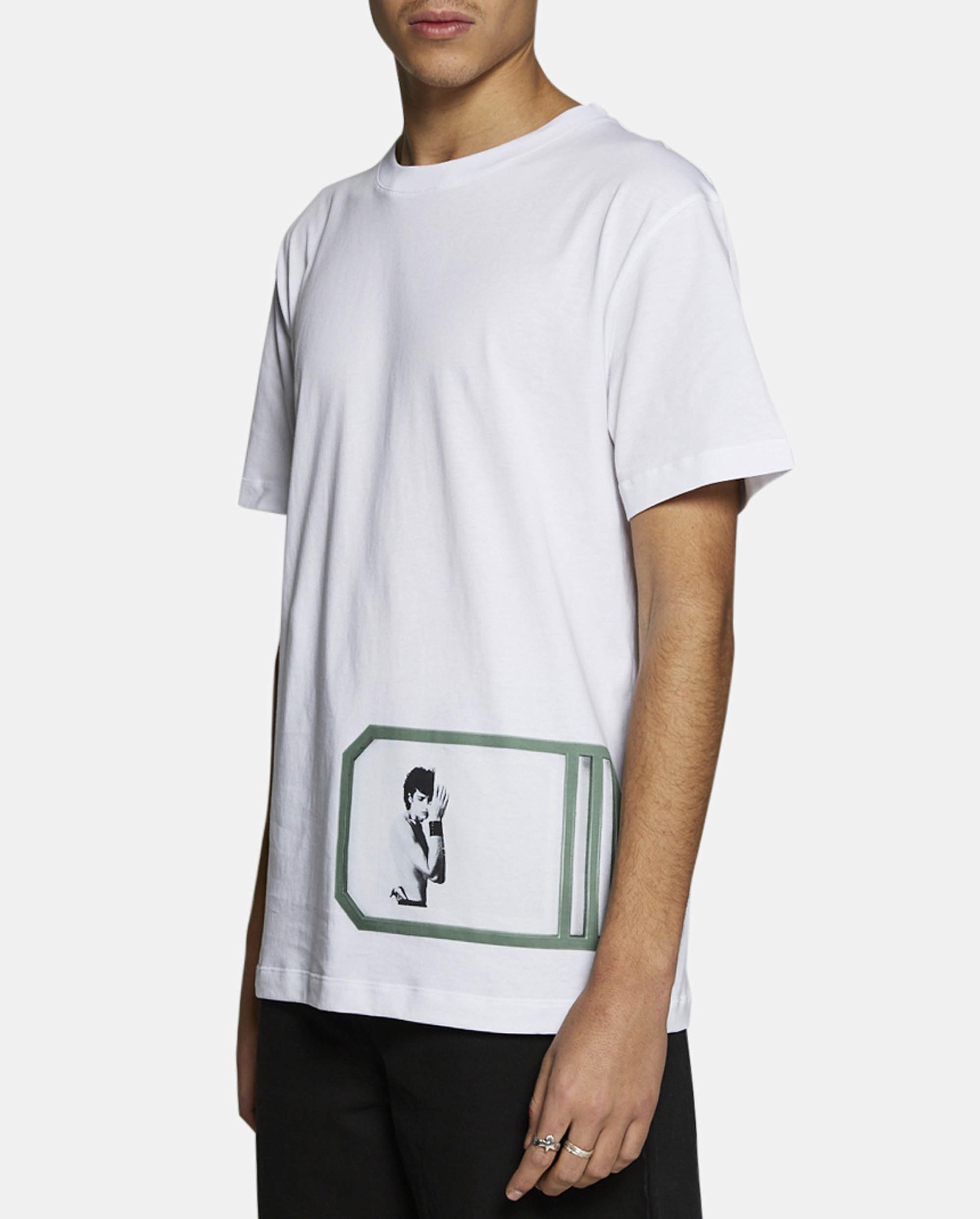 Lyst raf simons self portrait t shirt in white for men for Raf simons robert mapplethorpe shirt