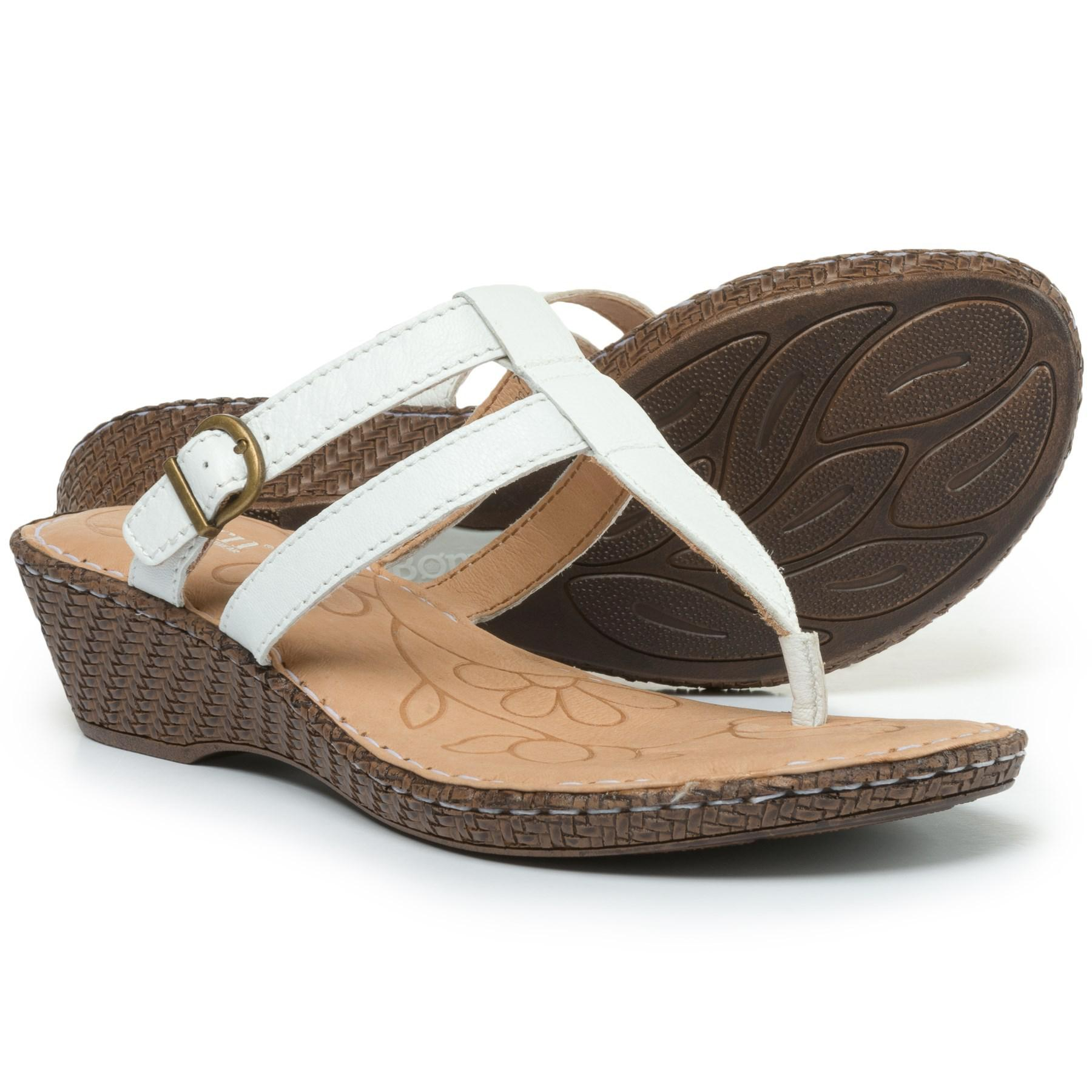 c2900a617789 Lyst - Born Wedge Sandals in White