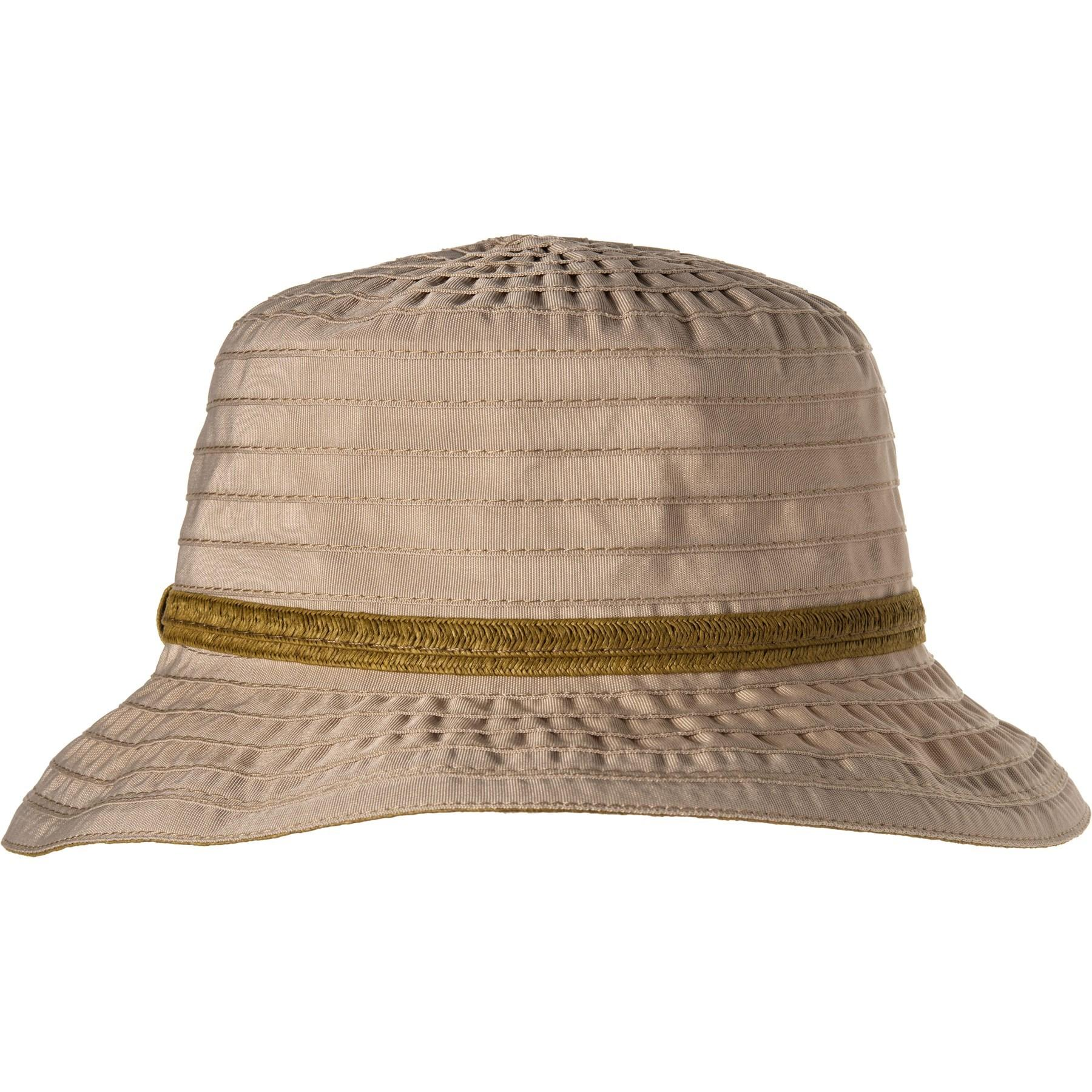 445e48f0e Lyst - Dorfman Pacific Acad Ribbon Bucket Hat With Trim (for Women)