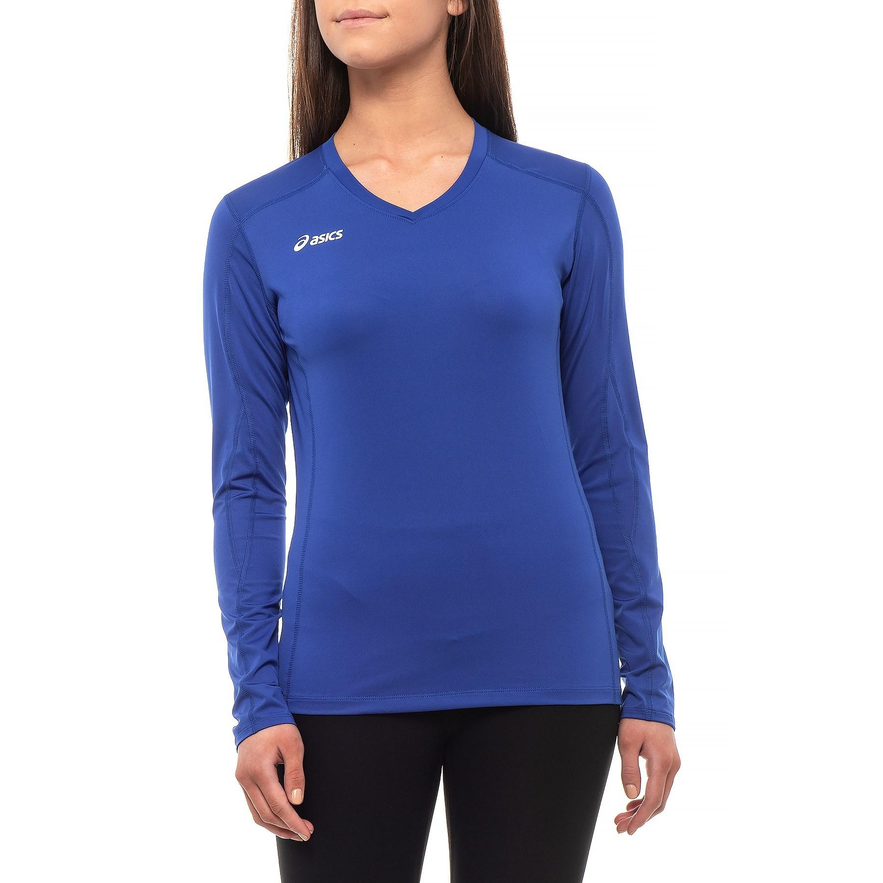7e53b3002fa Lyst - Asics Roll Shot Volleyball Jersey in Blue