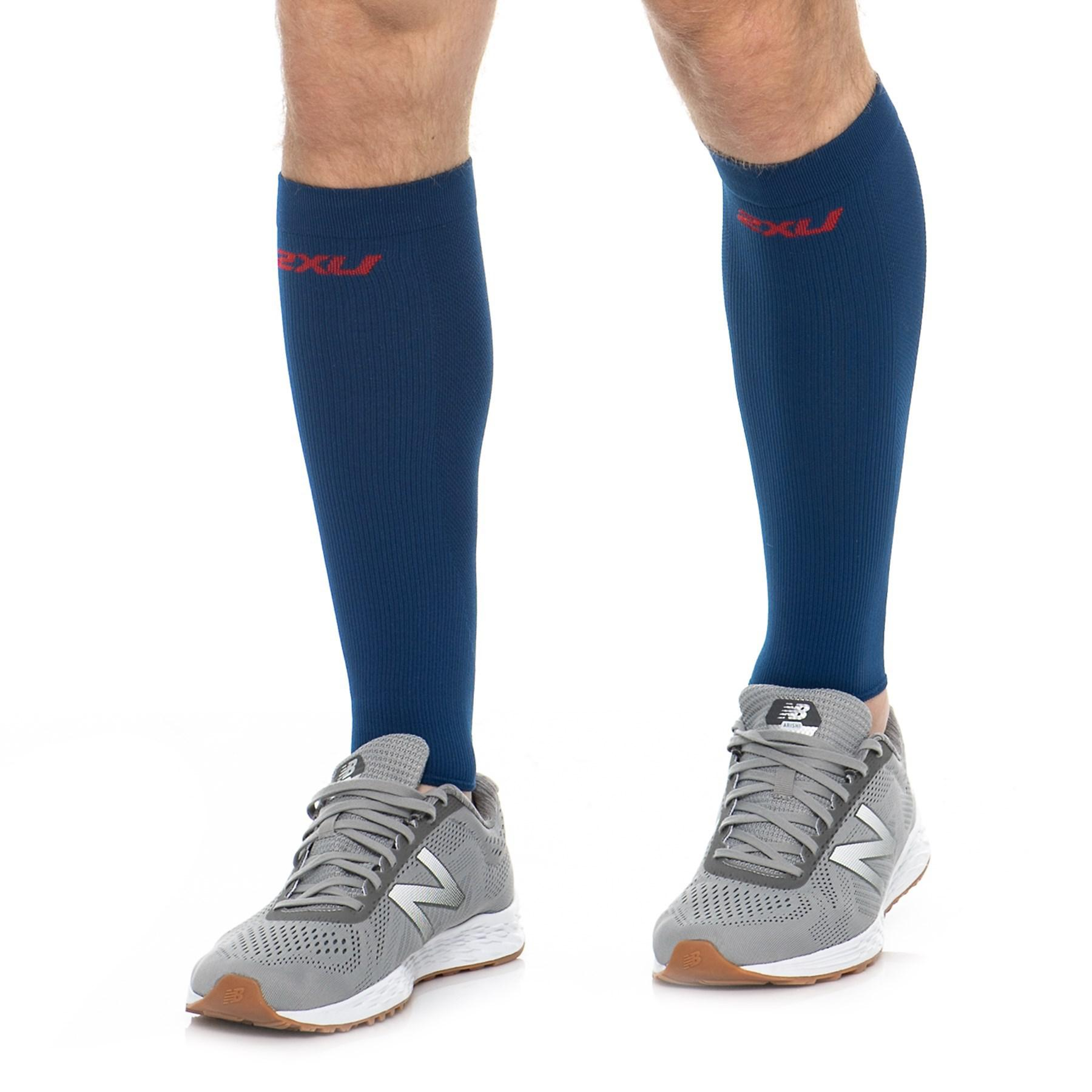 059e88d496 2XU High-performance Run Calf Sleeves in Blue for Men - Lyst