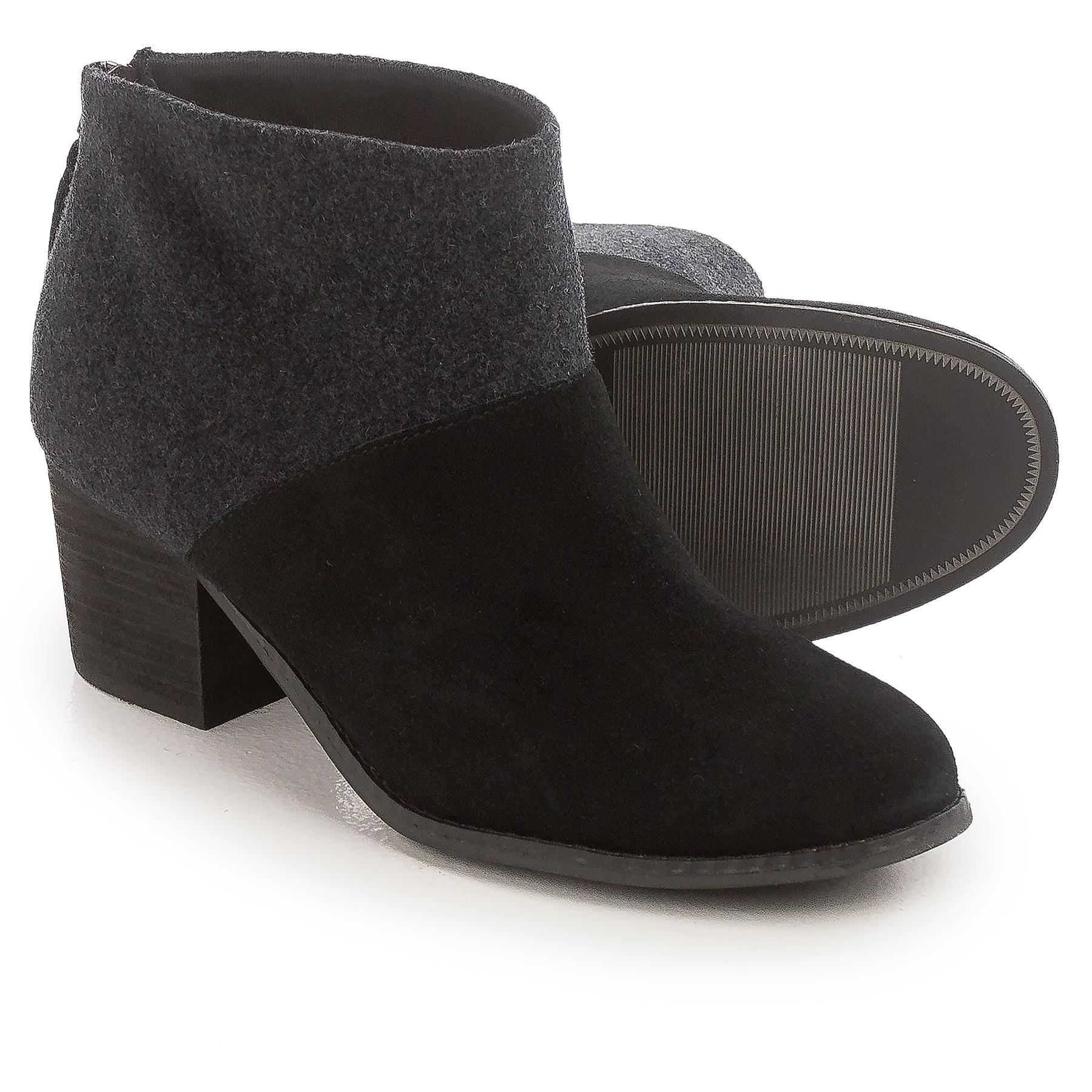 ae0a06bf3e4 Lyst - TOMS Leila Wool Felt Ankle Boots (for Women) in Black