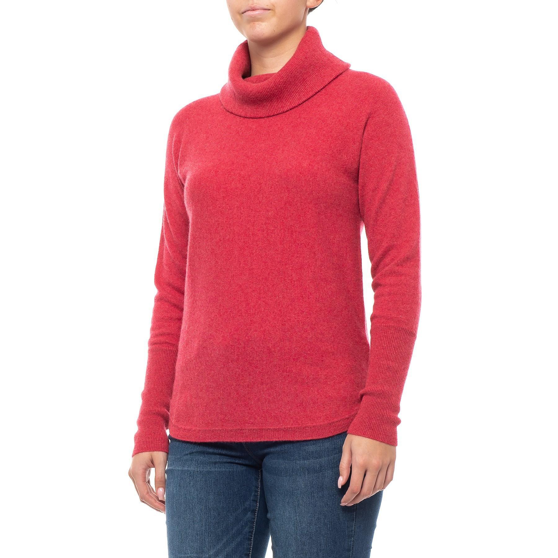 letzte Auswahl begehrteste Mode zur Freigabe auswählen Women's Red Cashmere Double-loose Pullover Tunic
