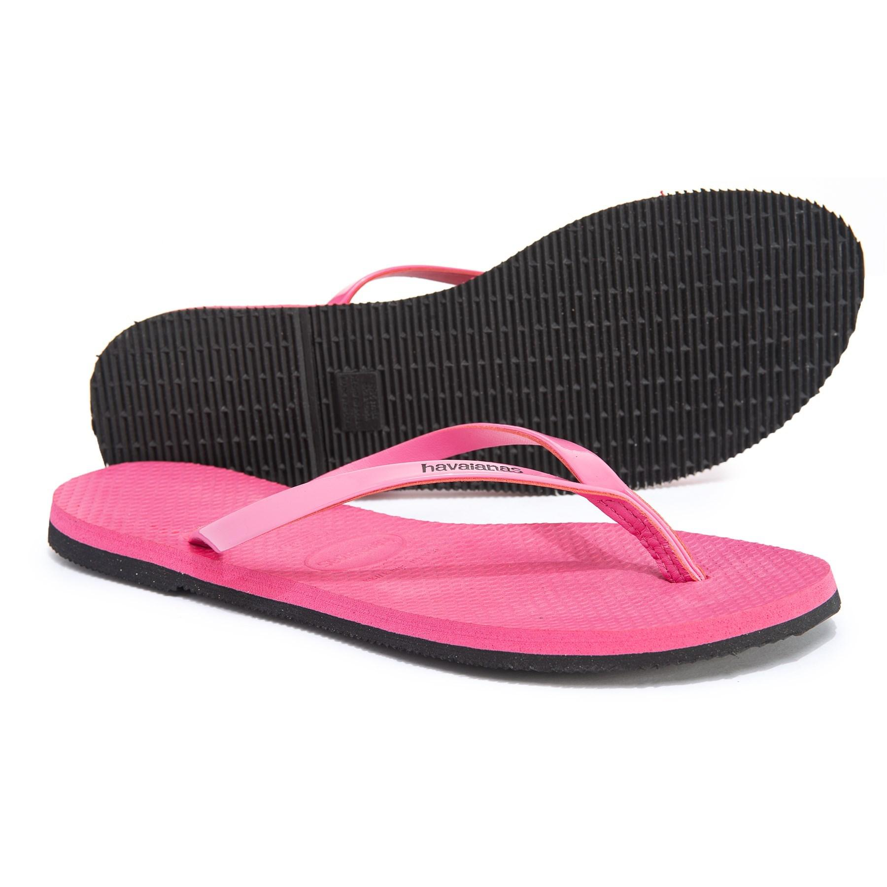 d1382bb25879ed Lyst - Havaianas You Metallic Flip-flops (for Women) in Pink - Save 48%