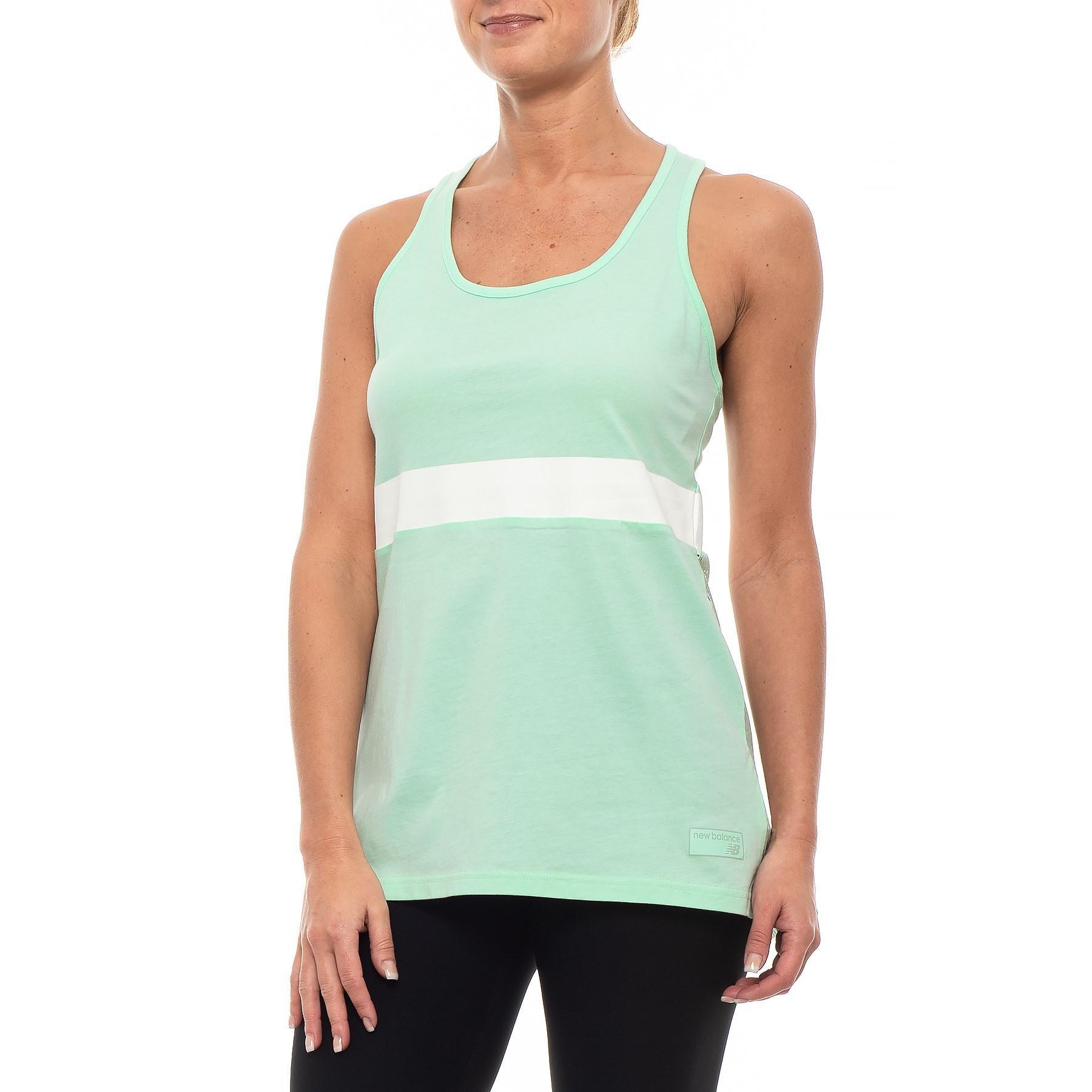 506ca9df3bd21 New Balance - Green Nb Athletics Novelty Tank Top (for Women) - Lyst. View  fullscreen