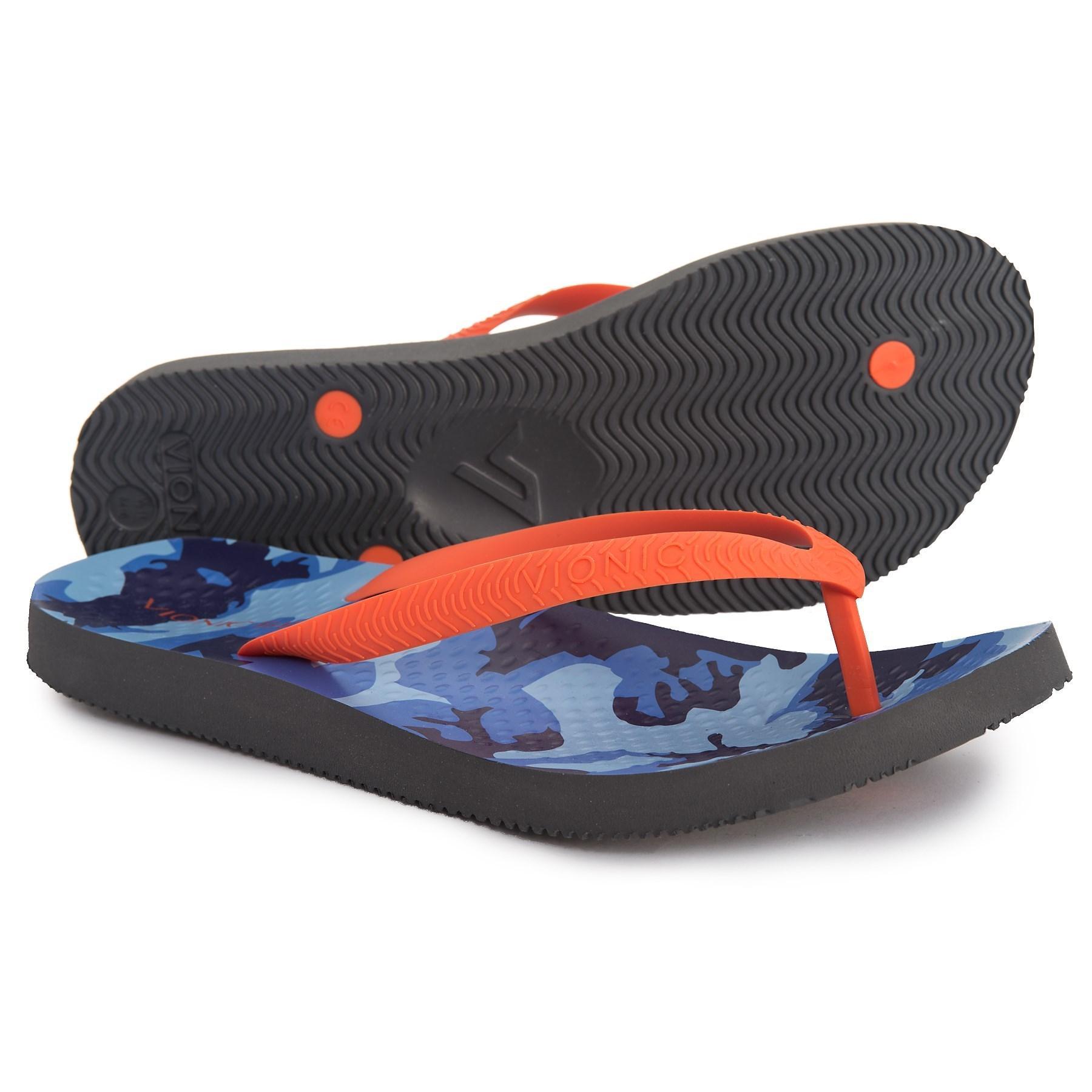 7fa6b05b48a14a Lyst - Vionic Manly Flip-flops (for Men) in Blue for Men