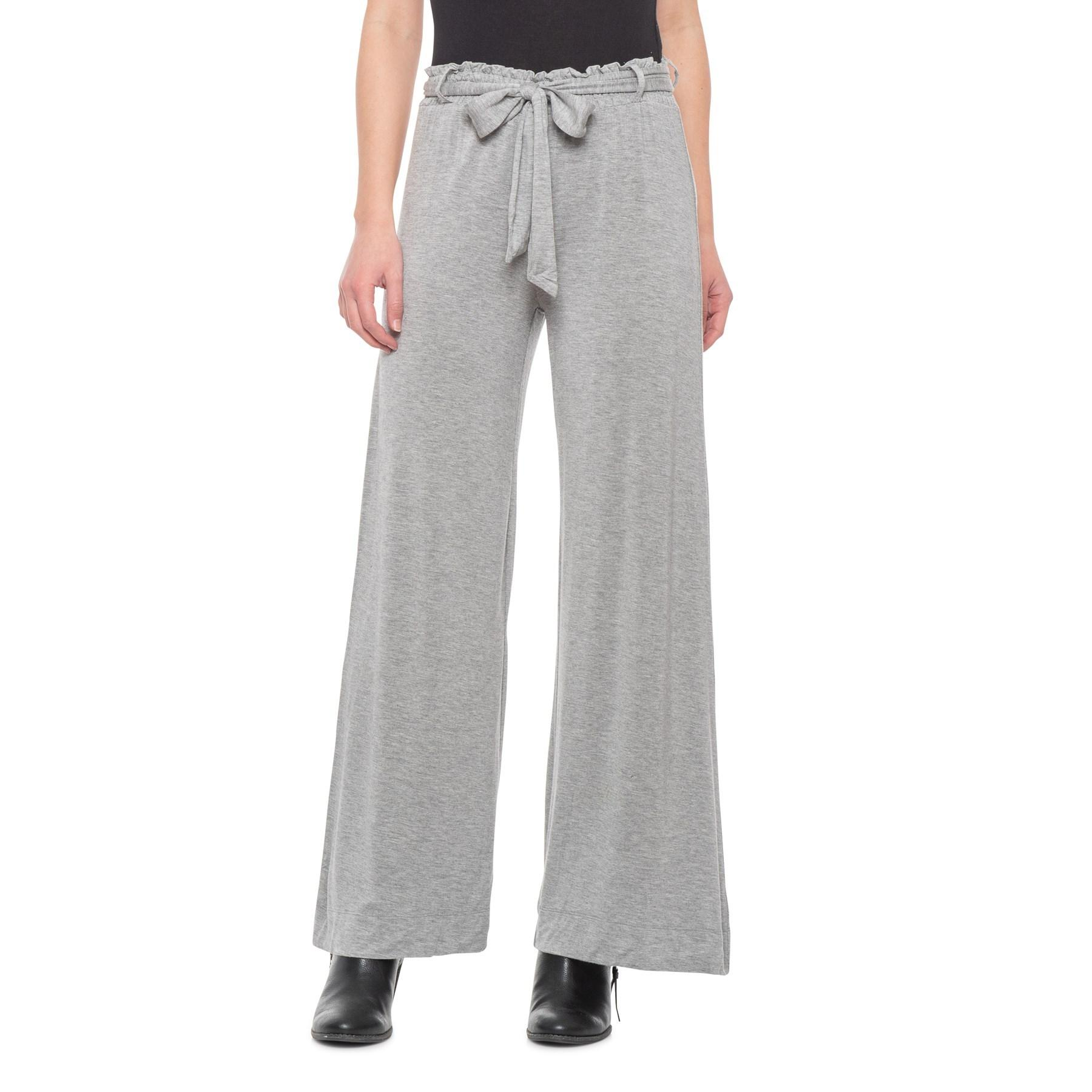 6ad18a7c20 Lyst - Chaser Heather Grey Wide-leg Knit Pants (for Women) in Gray