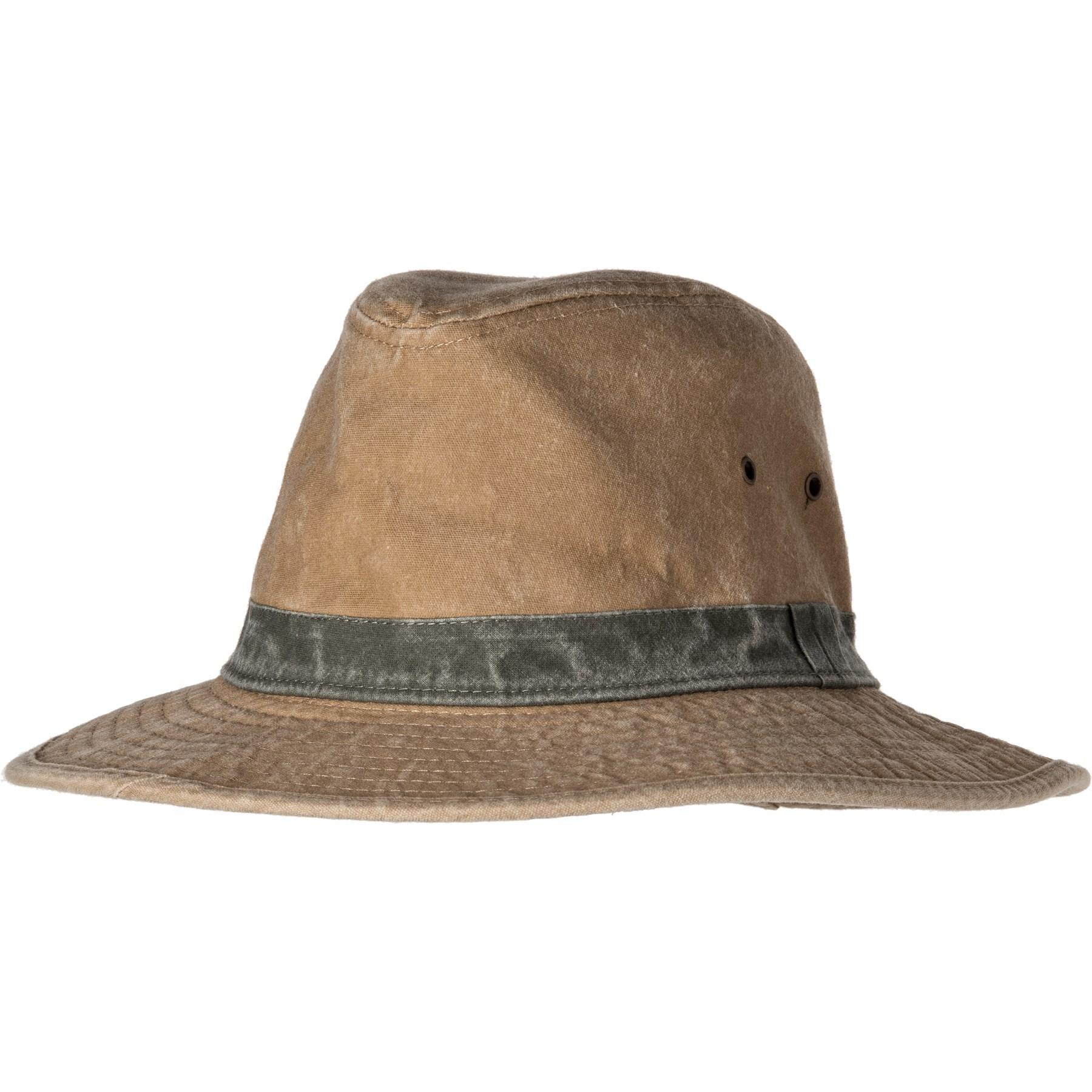4c1554d2 Lyst - Dorfman Pacific Washed Cotton Ds Safari Hat in Natural for Men