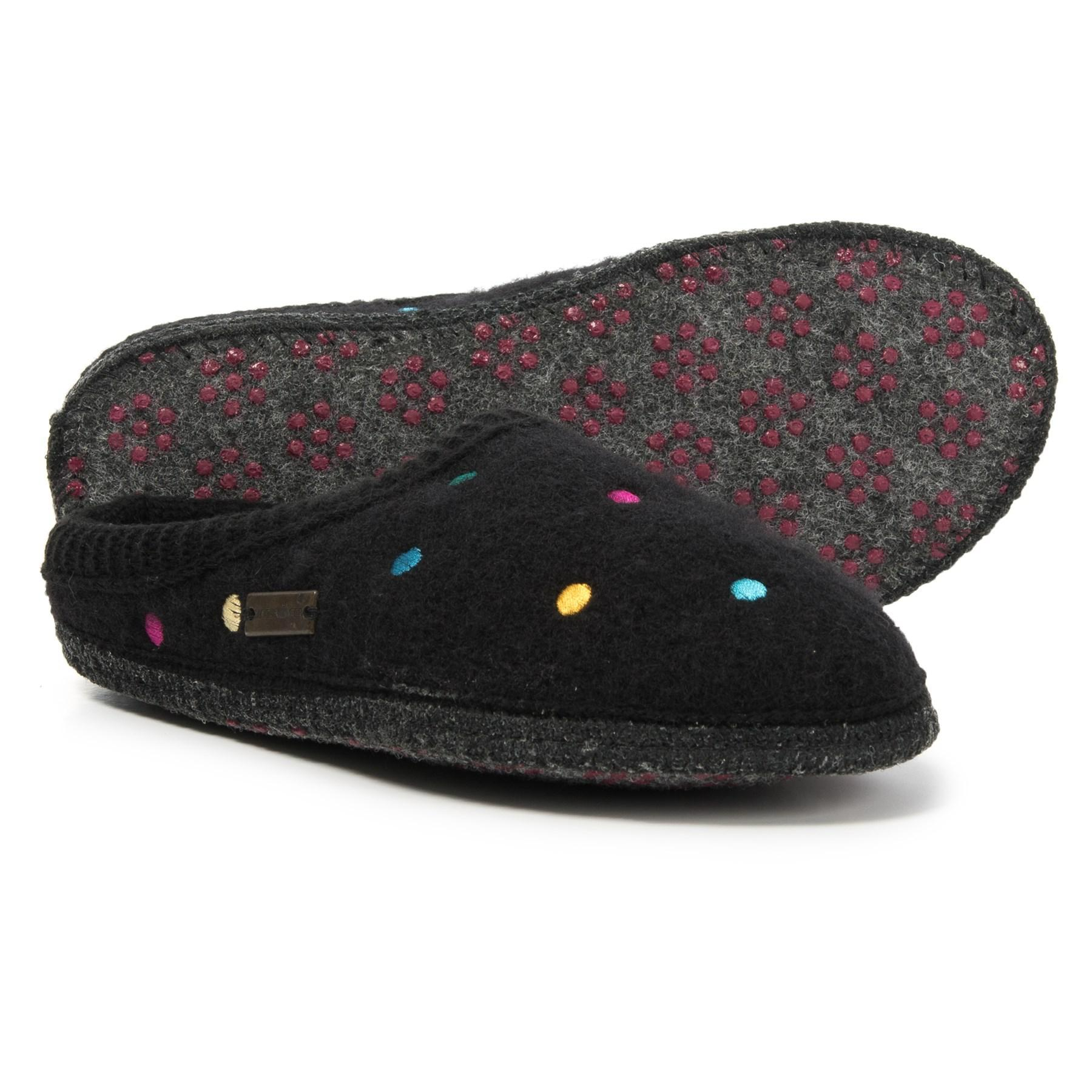 2a107a80f1b Lyst - Haflinger Boiled Wool Classic Scuff Slipper (for Women) in Black