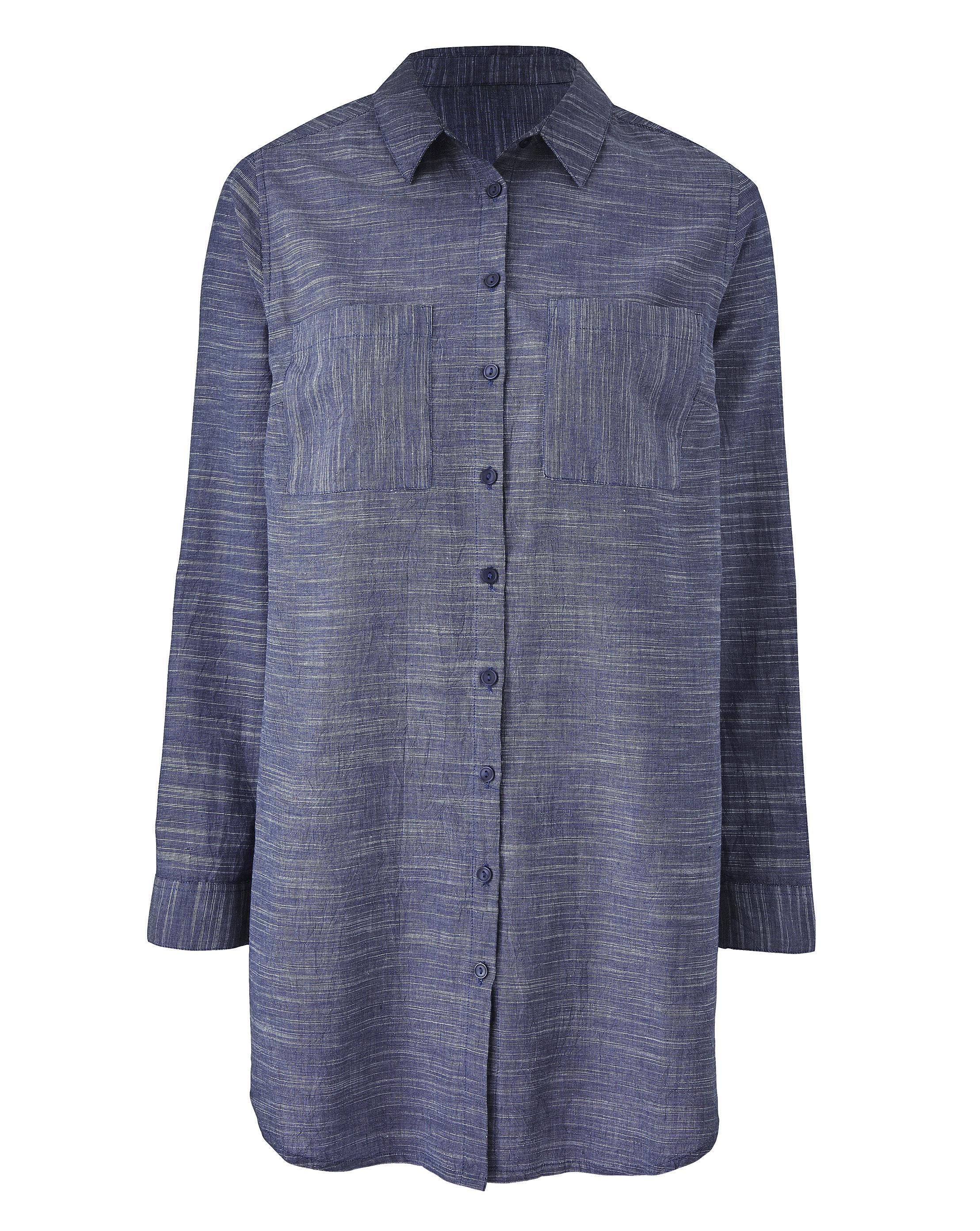 a7add4168c Lyst - Simply Be Long Sleeve Tunic Shirt in Blue