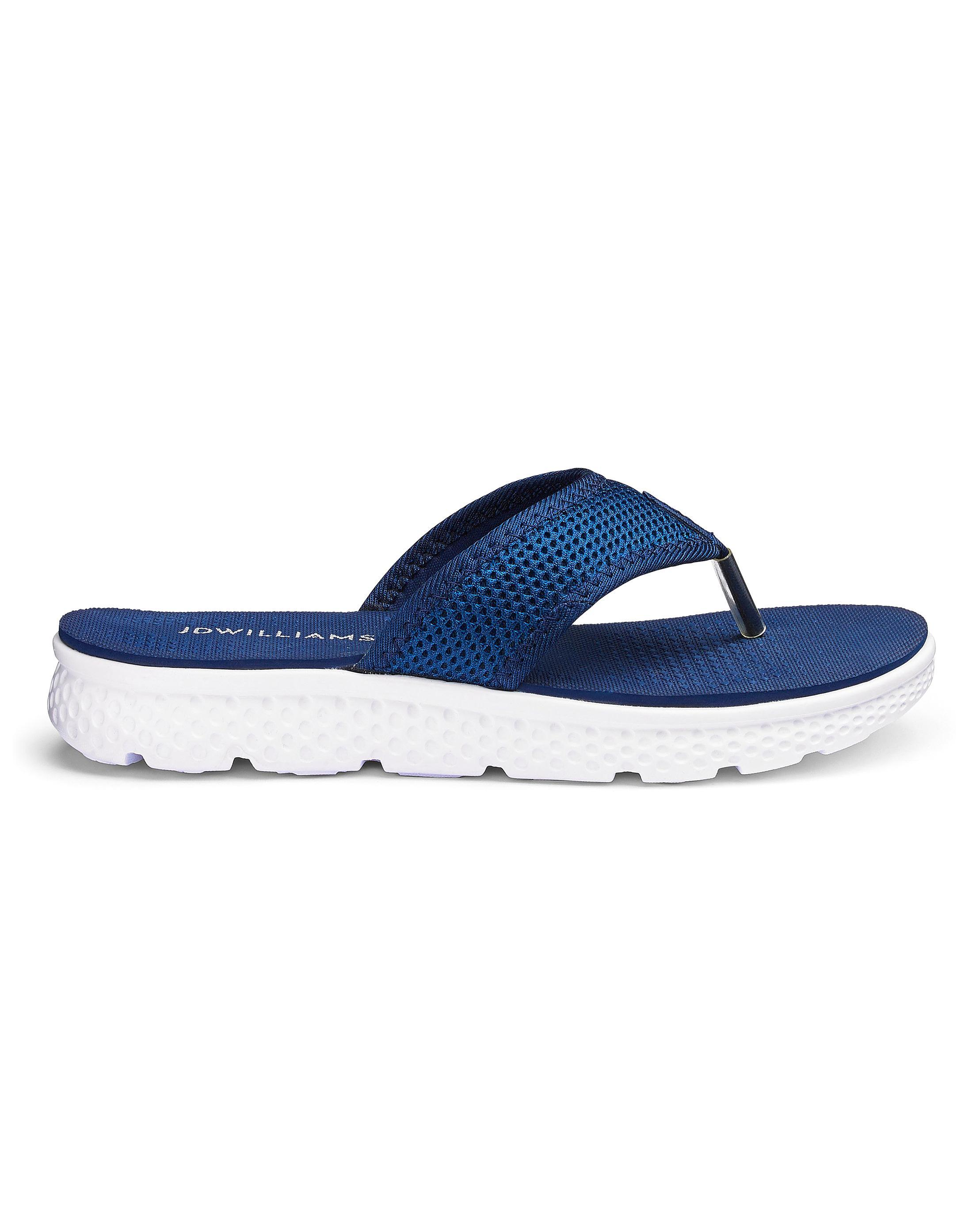 4e2c15582c8ae Lyst - Simply Be Toe Post Leisure Mule Sandals in Blue