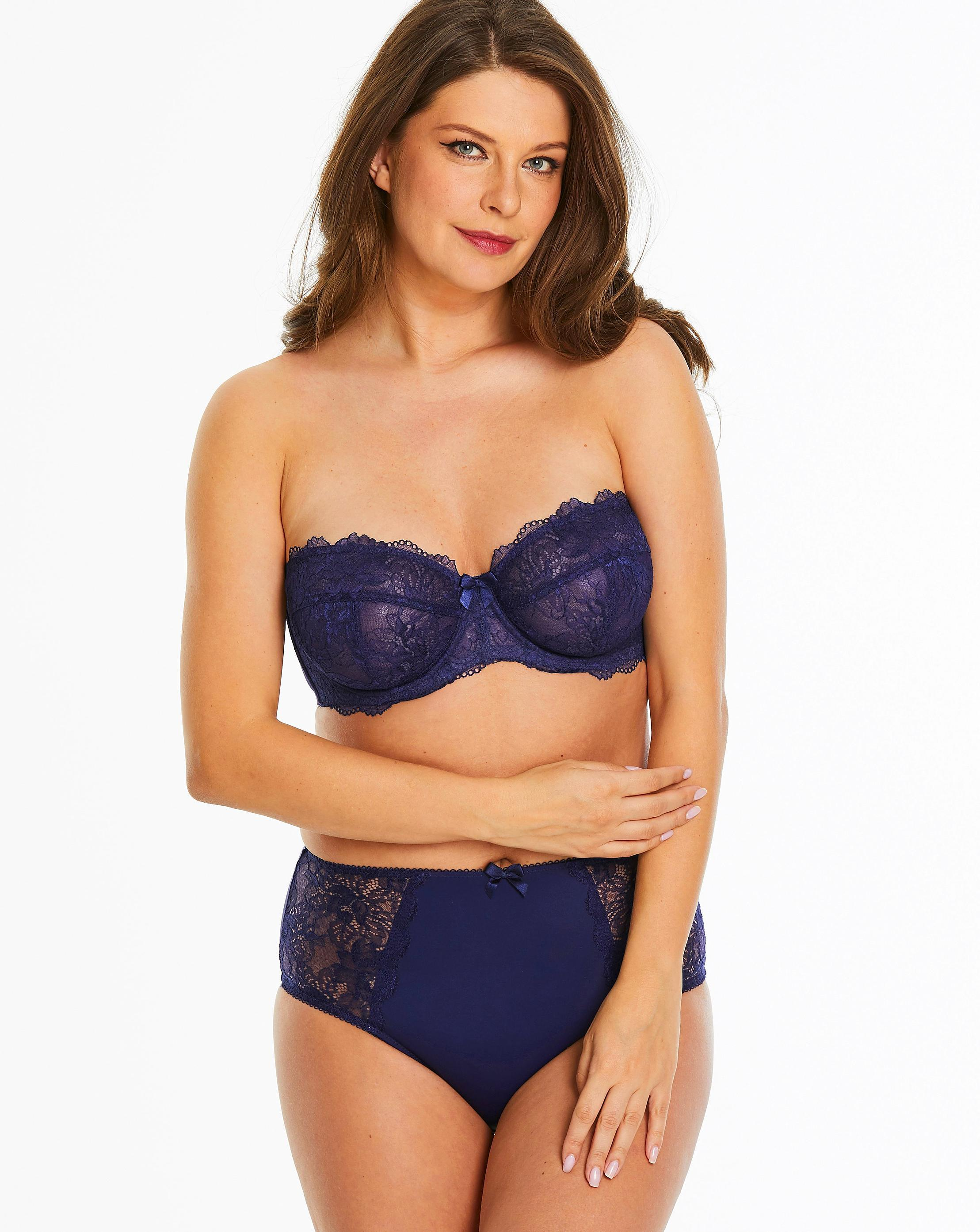 da4a01452c Lyst - Simply Be Pretty Secrets Ella Lace Multiway Wired Bra in Blue