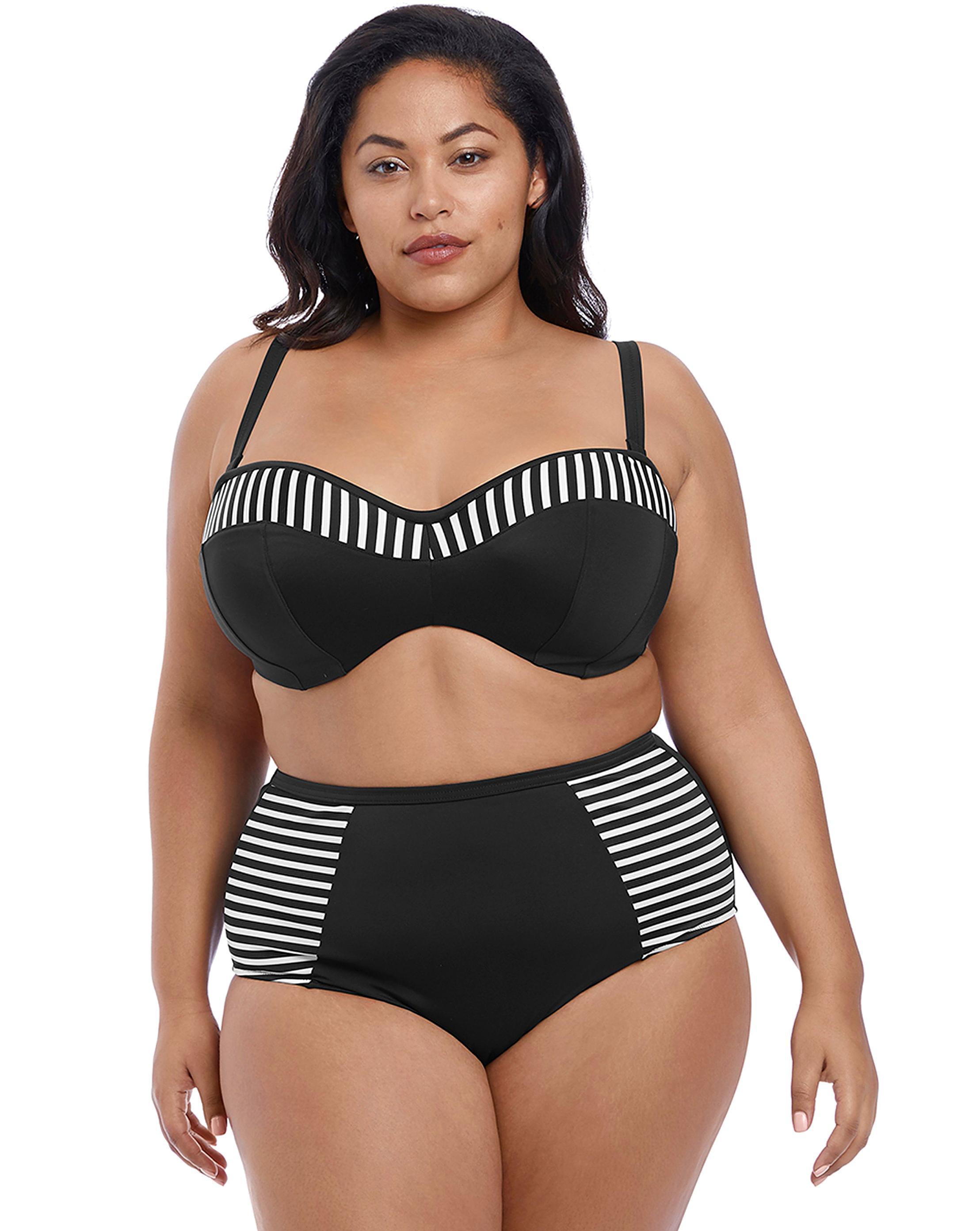 11adf818f33 Lyst - Simply Be Elomi Underwired Bandeau Bikini Top in Black