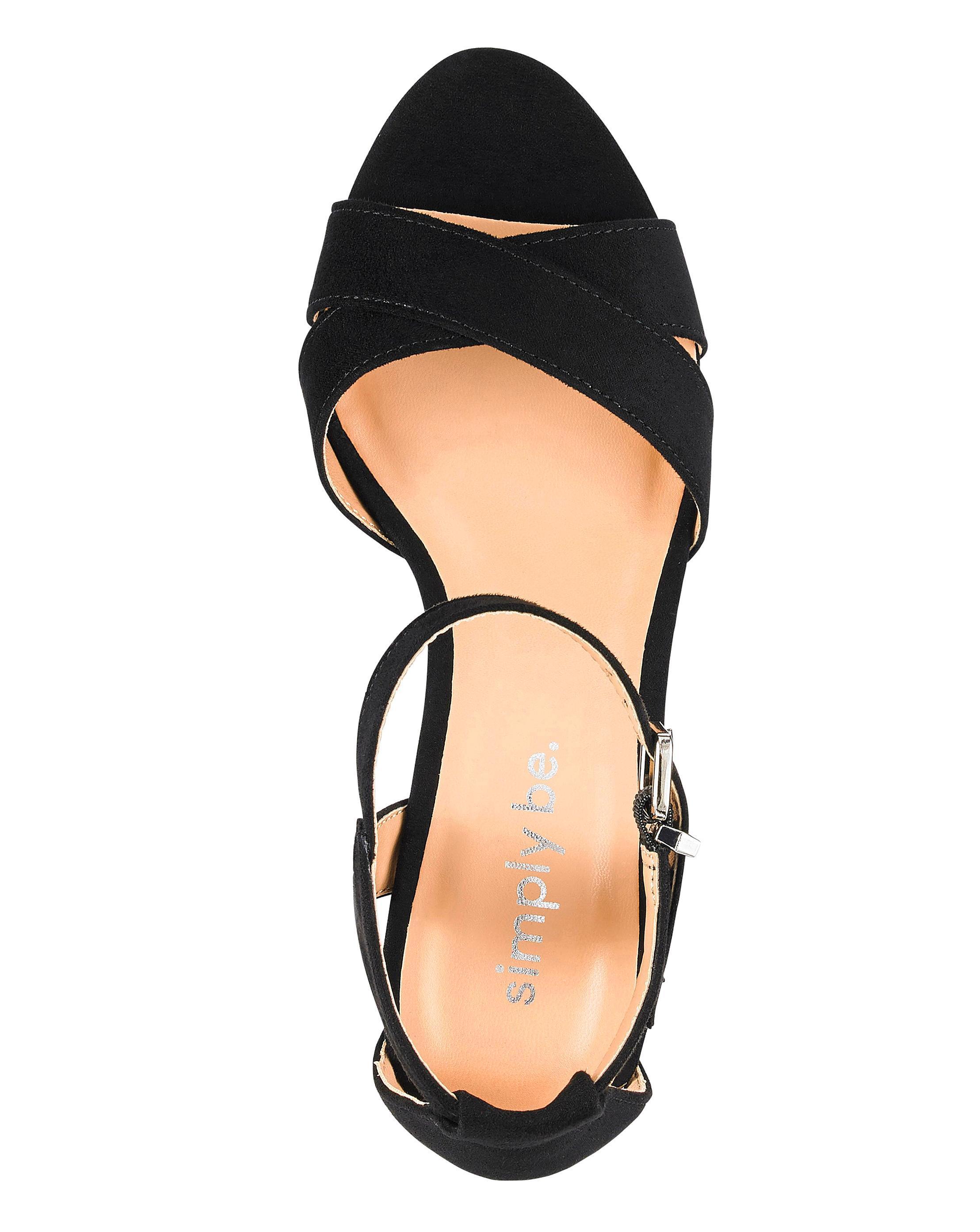81f7a334eda Lyst - Simply Be Helen Block Heels in Black