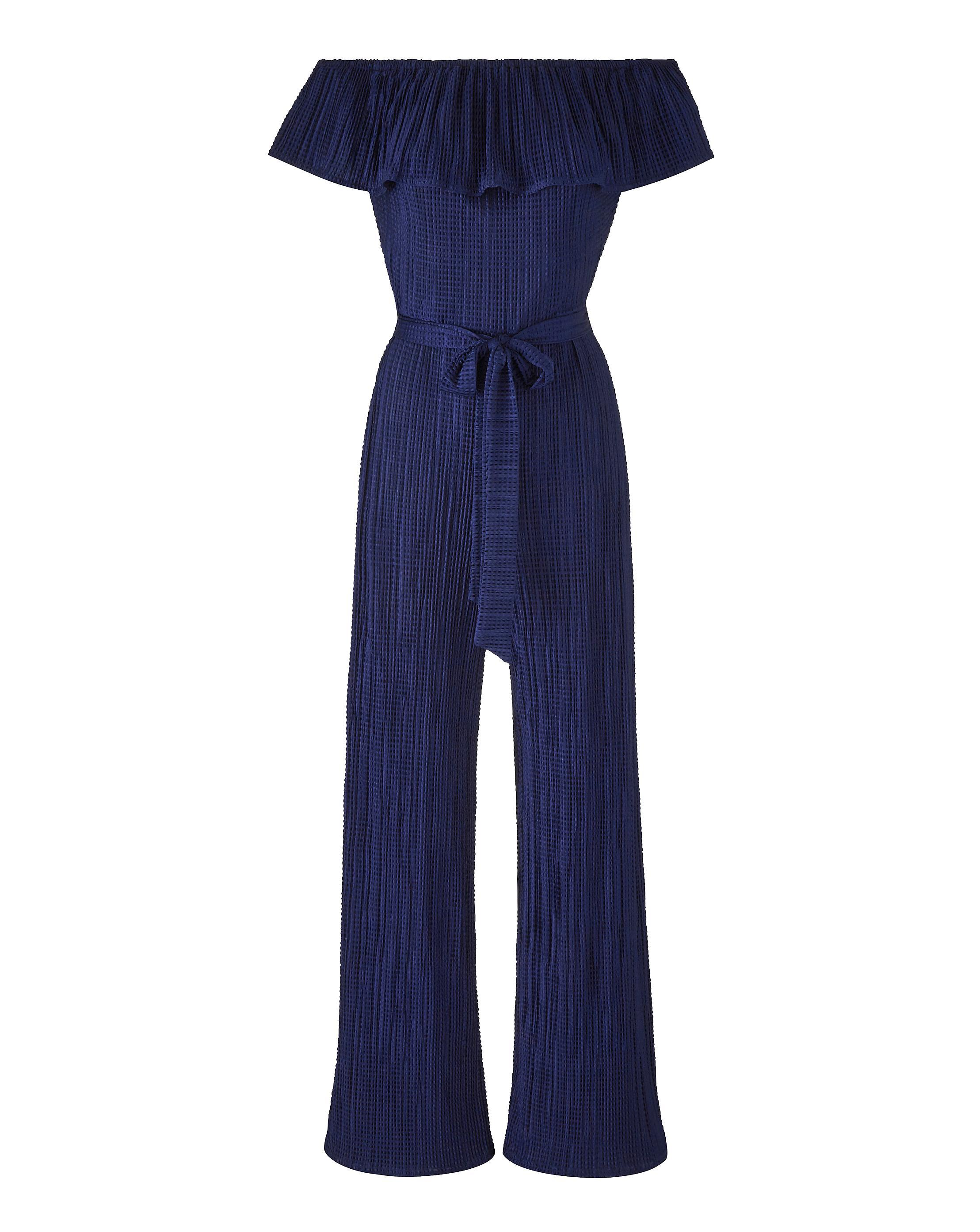 a5d45d5363c Lyst - Simply Be Joanna Hope Plisse Jumpsuit in Blue