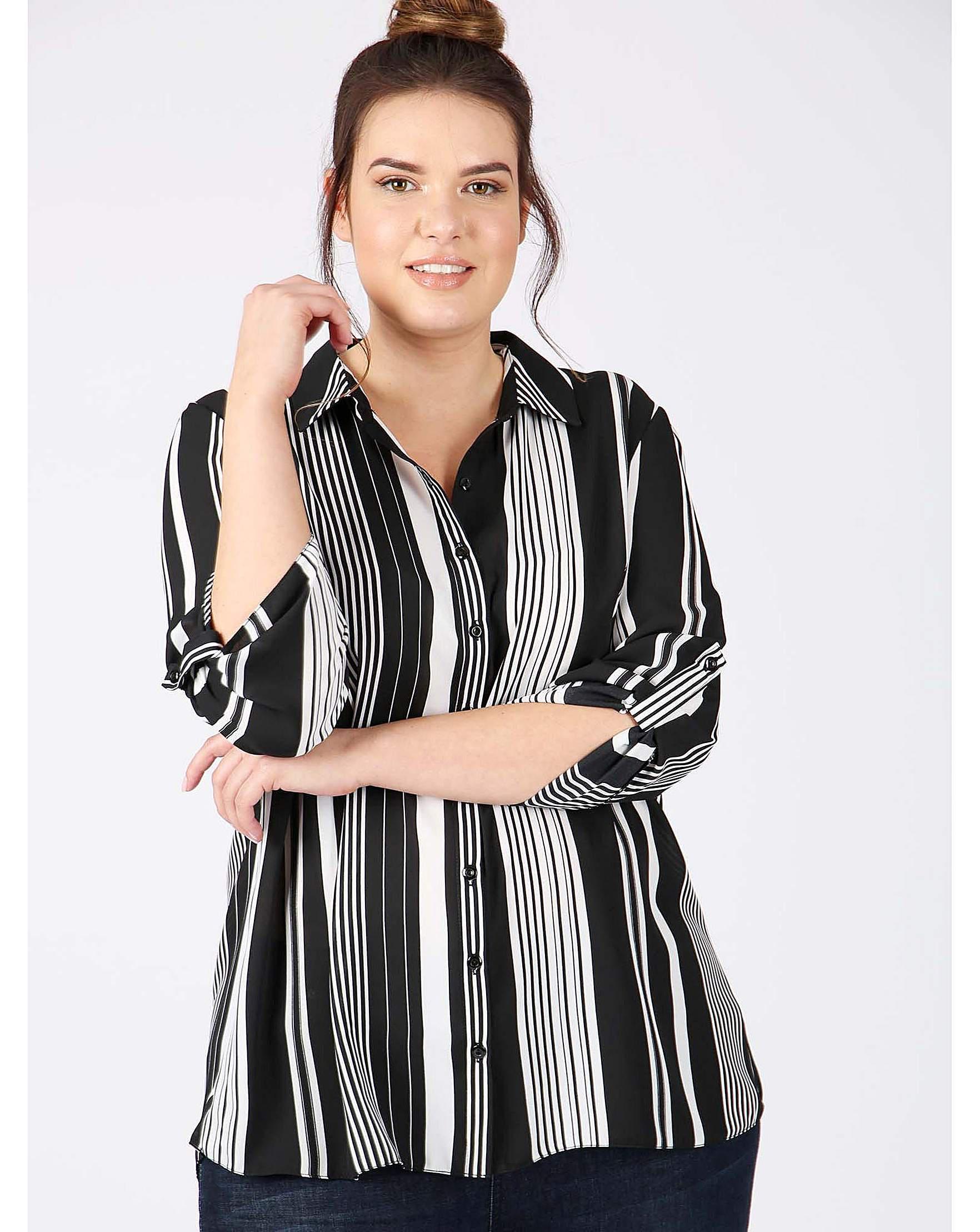 493da2be7d5017 Freya Lovedrobe Gb Black White Striped Shirt in Black - Lyst
