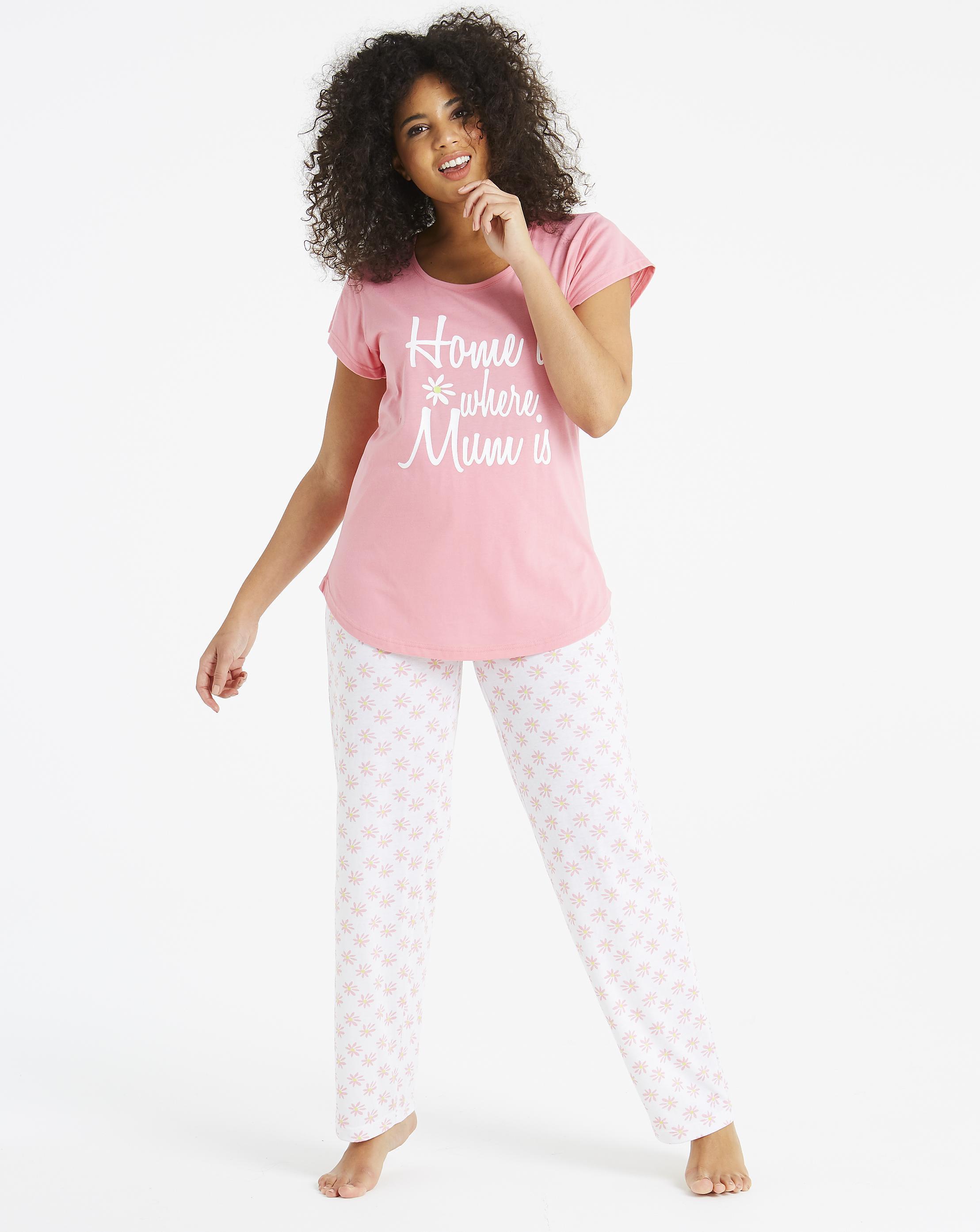 a066ea3e675 Lyst - Simply Be Pretty Secrets Short Sleeve Pj Set in Pink