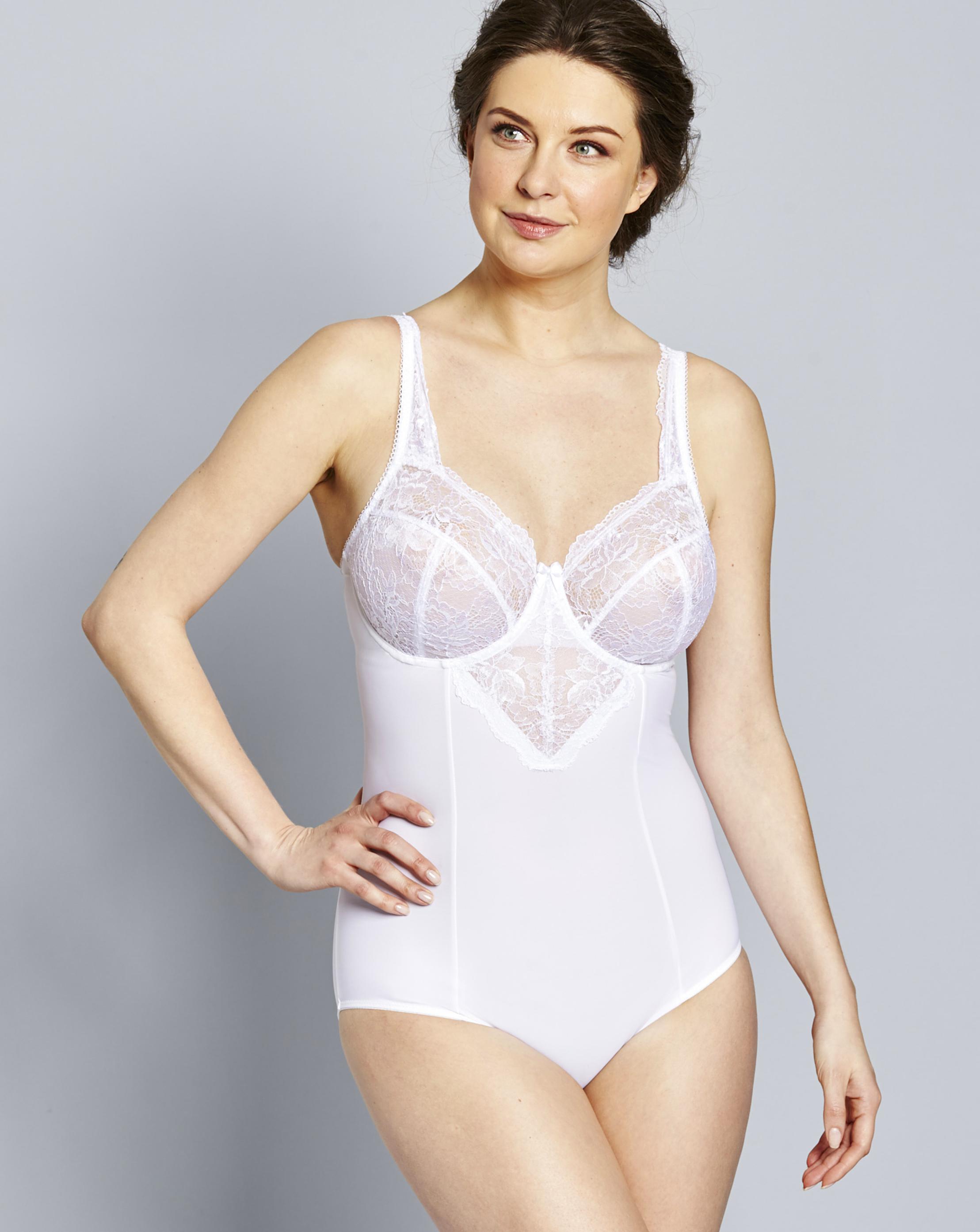 b8bf2e74f1 Lyst - Simply Be Magisculpt Ella Lace Light Control Bodyshaper in White