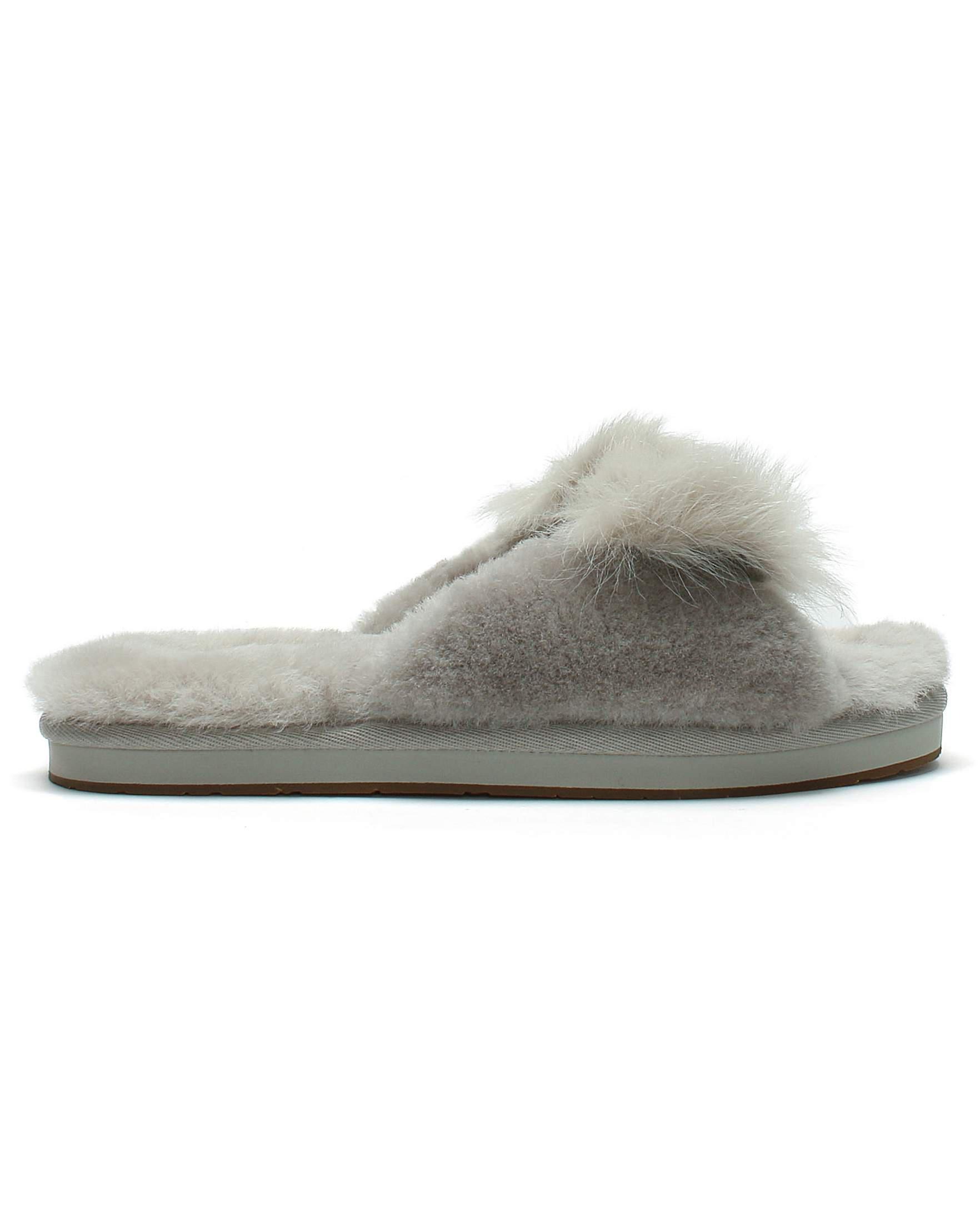 c4711f8253 Ugg Mirabelle Sheepskin Slippers in Gray - Lyst