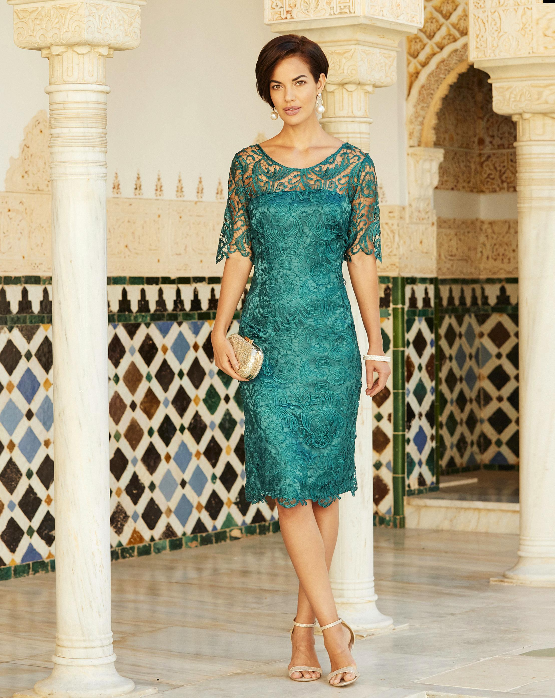 7f94993120bc Lyst - Simply Be Joanna Hope Lace Dress in Blue