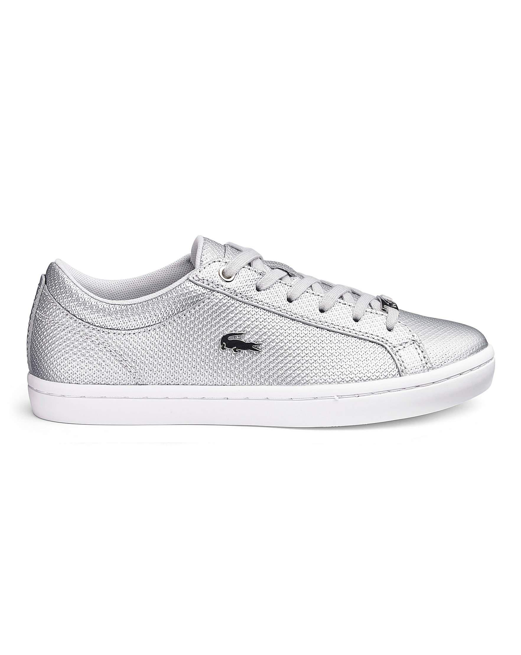 719949d55 Lacoste Straightset Trainers in Metallic - Lyst