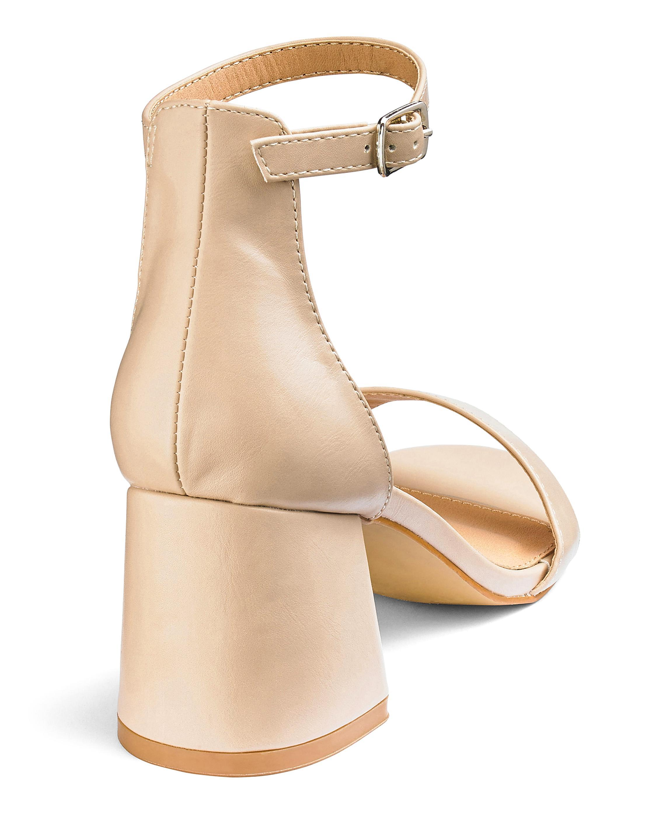bd659c21c226 Lyst - Simply Be Cammy Block Heels Wide Fit in Natural