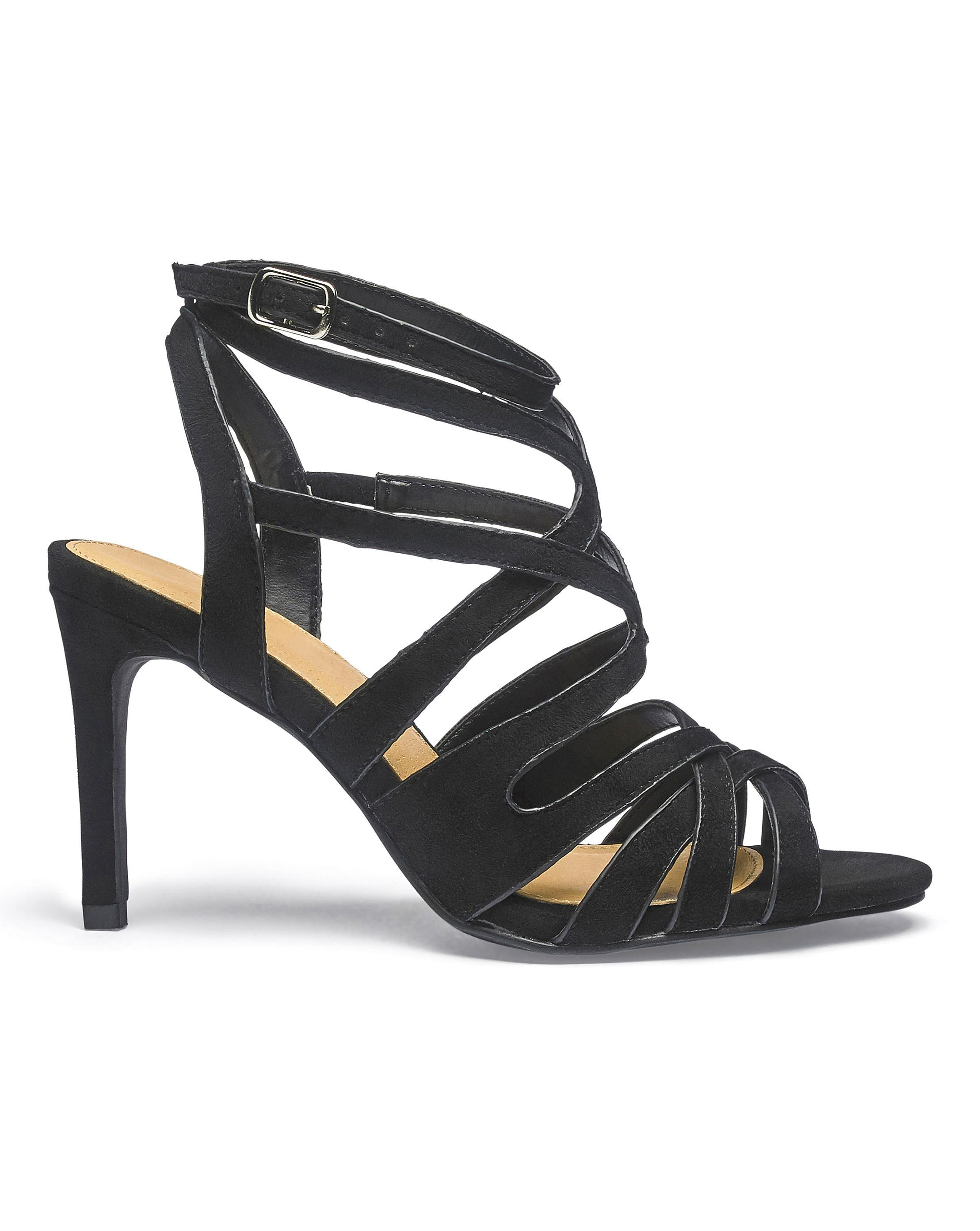 d6cd0a2e45b Lyst - Simply Be Kristen Cage Sandal Extra Wide Fit in Black