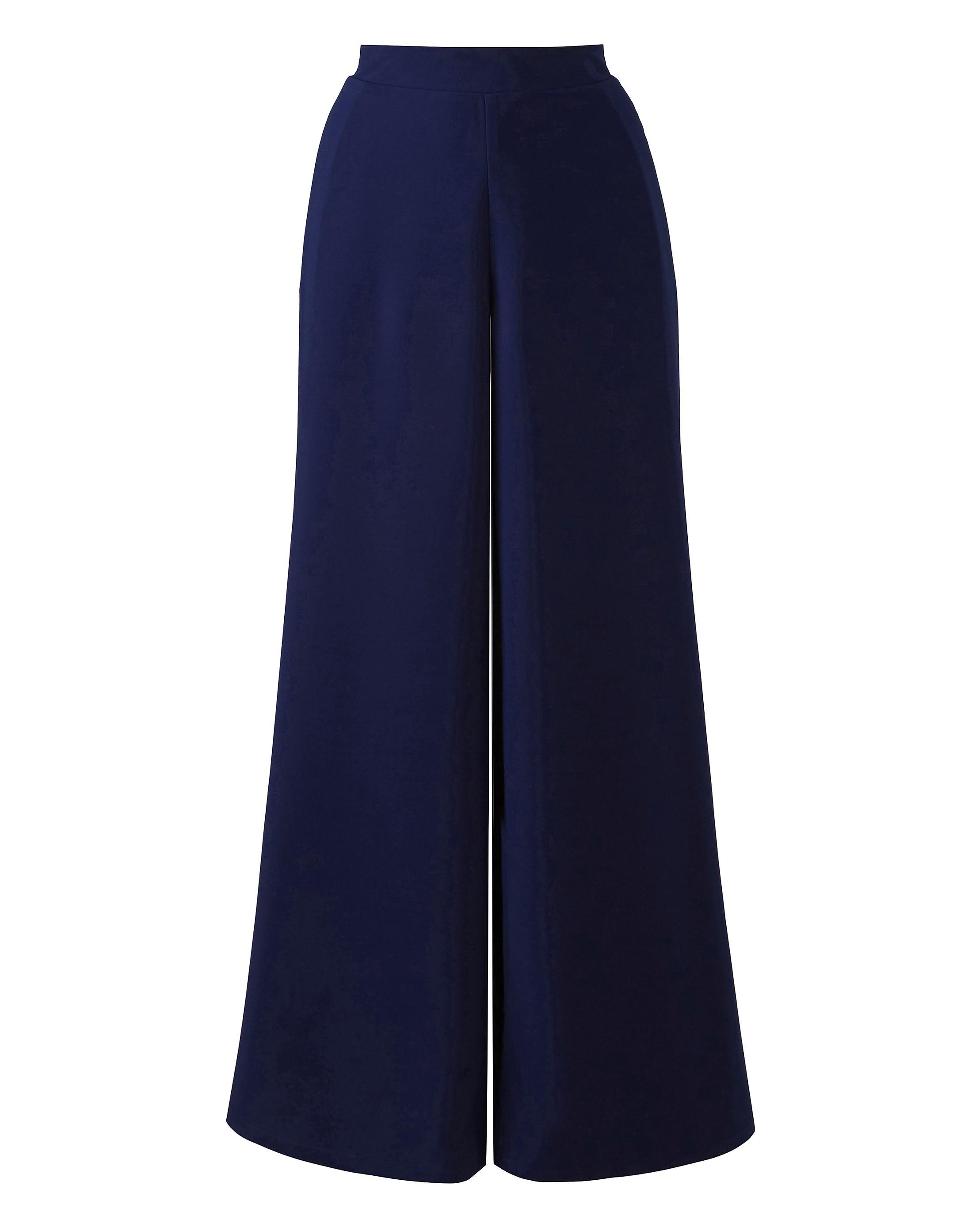 87697ec3d57 Lyst - Simply Be Black Crepe Palazzo Pants in Blue